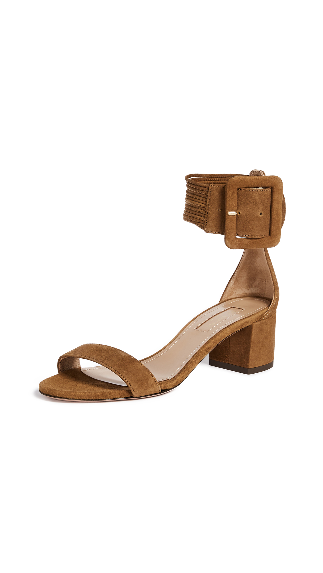 Aquazzura Casablanca 50 Sandals - Cognac