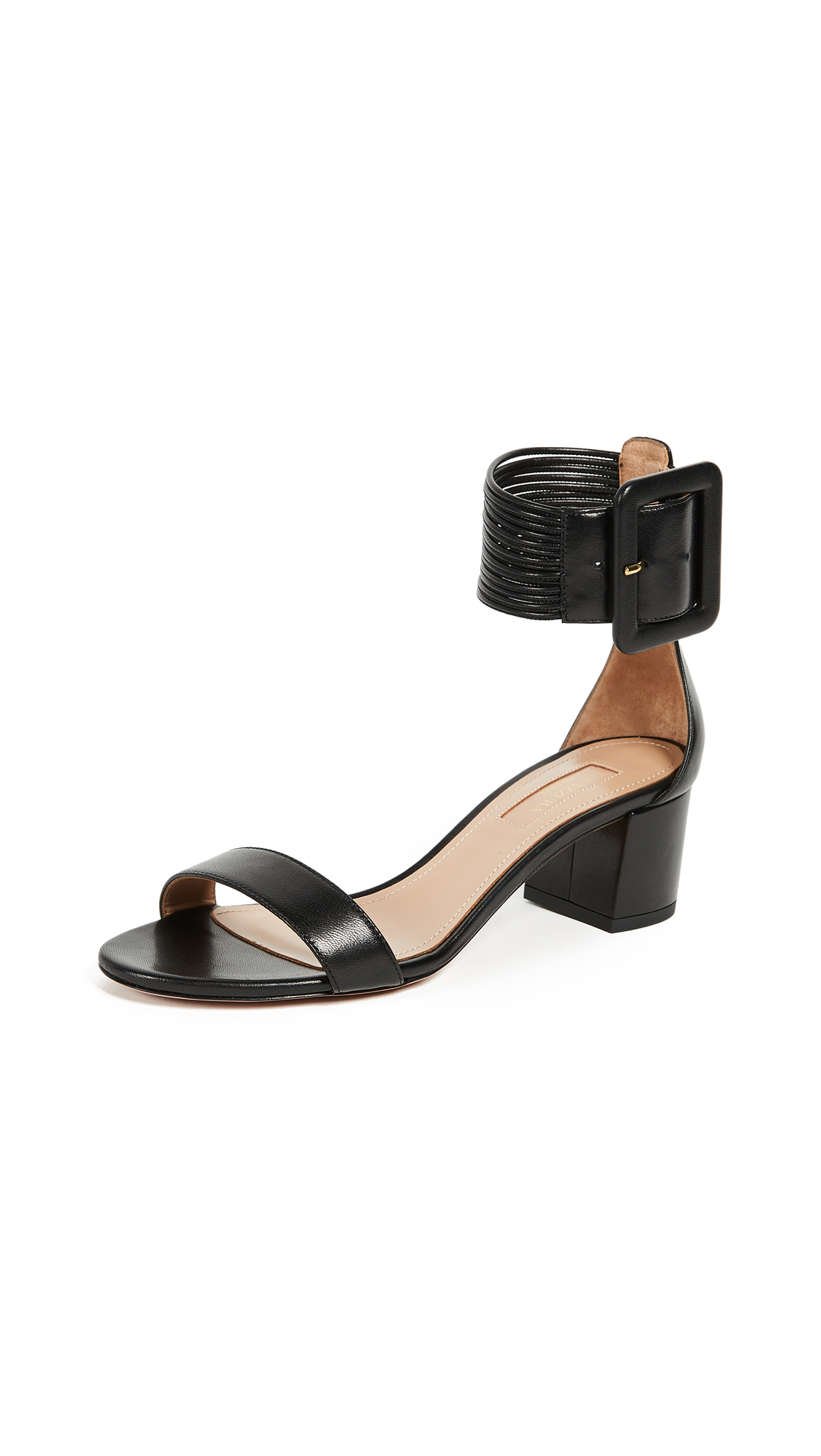 Aquazzura Casablanca 50 Sandals - Black