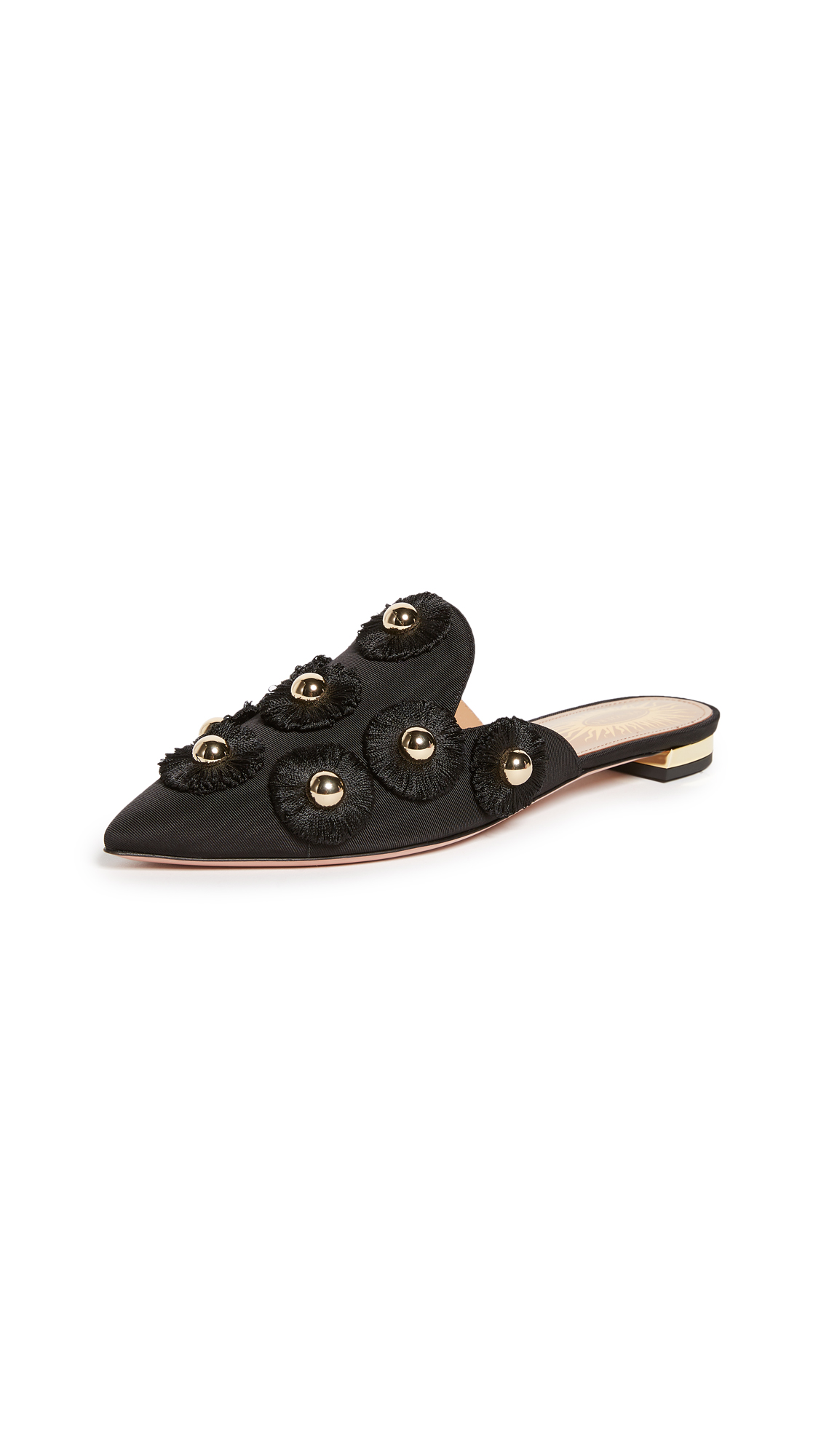 Aquazzura Sunflower Flats - Black
