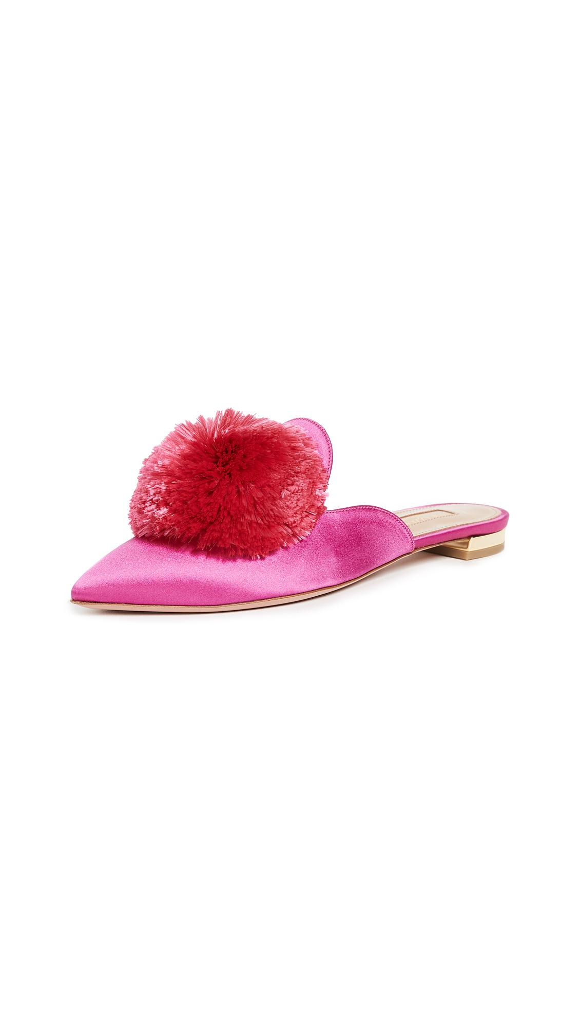Aquazzura Powder Puff Flats - Azalea Pink