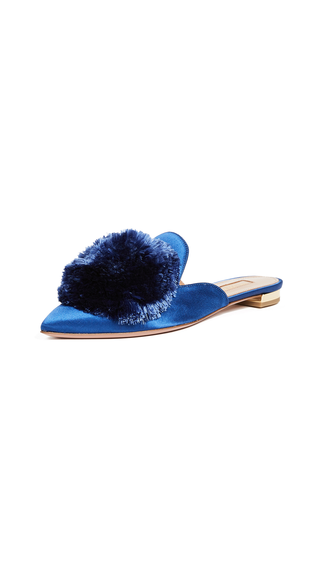 Aquazzura Powder Puff Flats - Blue Bell