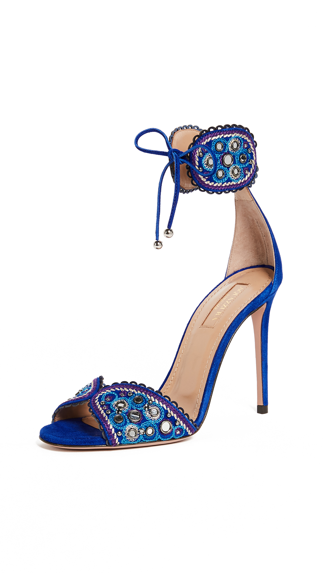 Aquazzura Jaipur 105 Sandals - Blue Bell