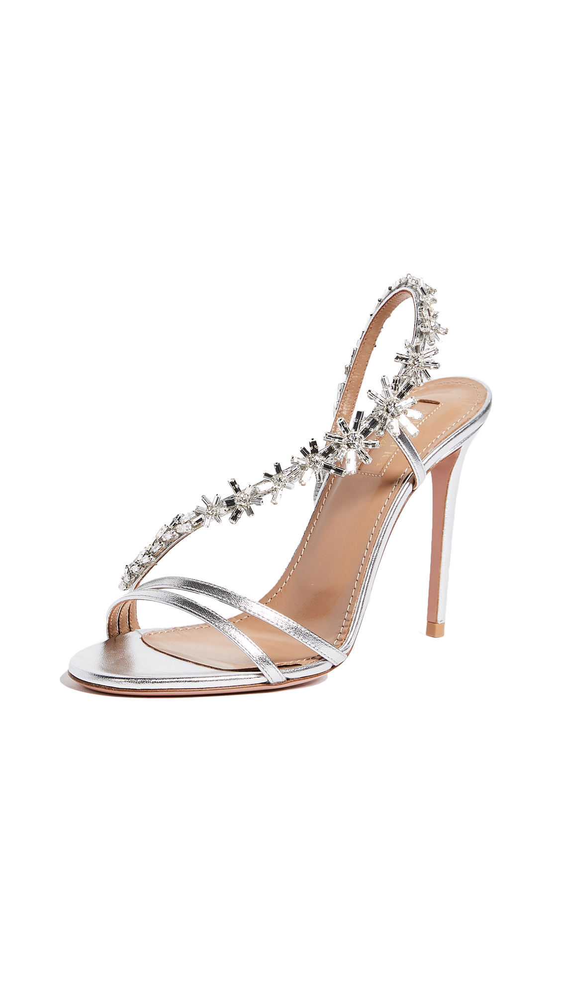 Aquazzura Chateau 105 Sandals - Silver