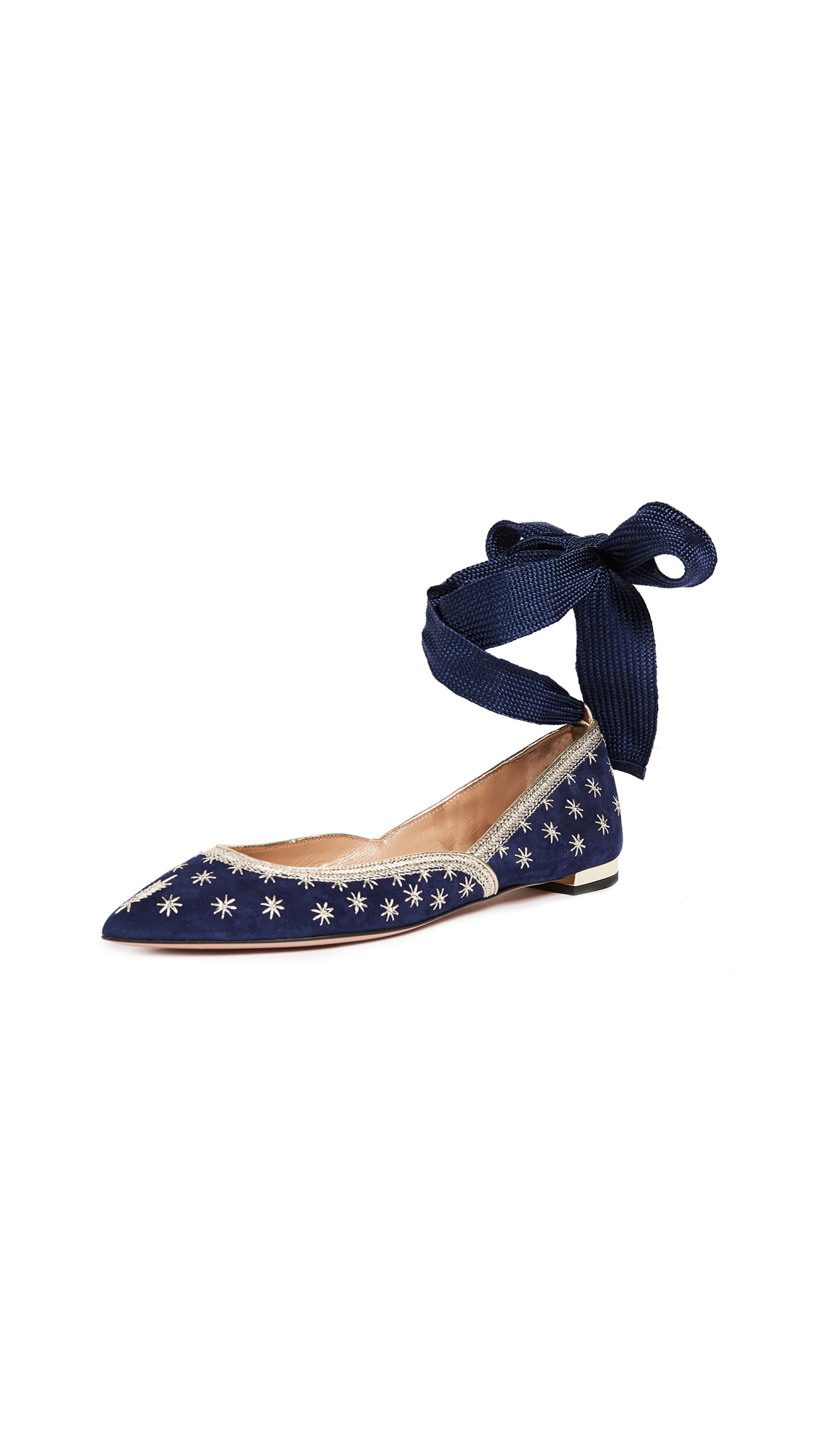 Aquazzura Bliss Ballet Flats - Navy