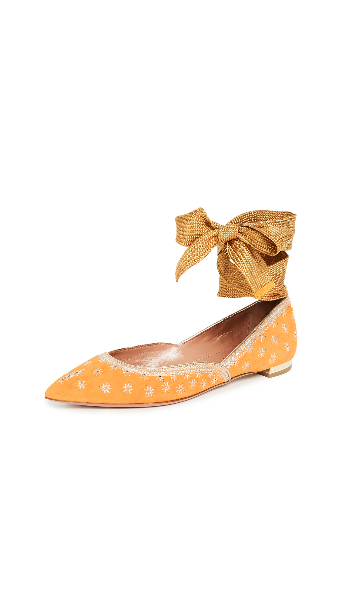 Aquazzura Bliss Ballet Flats - Sunshine Yellow