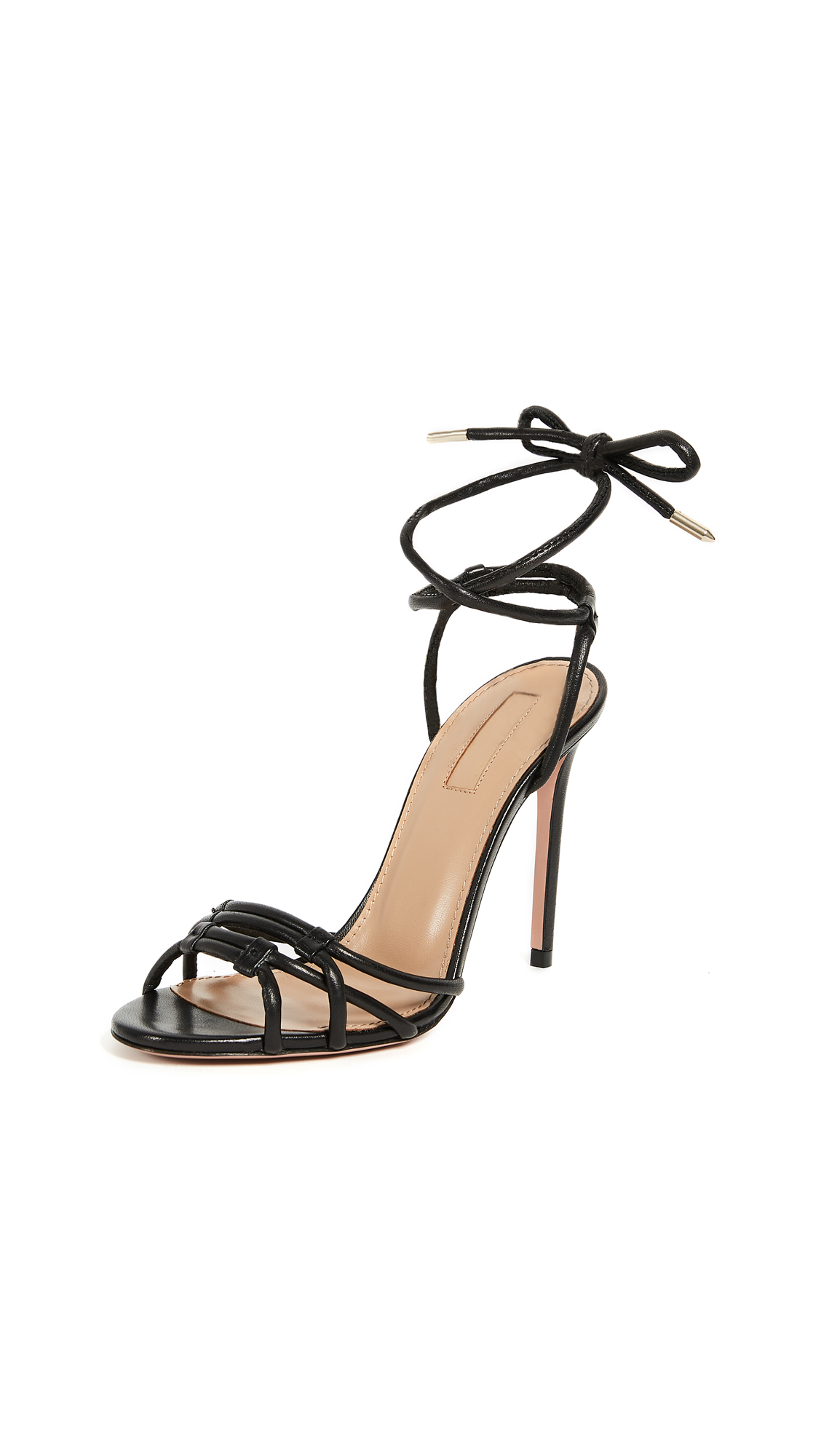 Aquazzura Laura 105 Sandal - Black