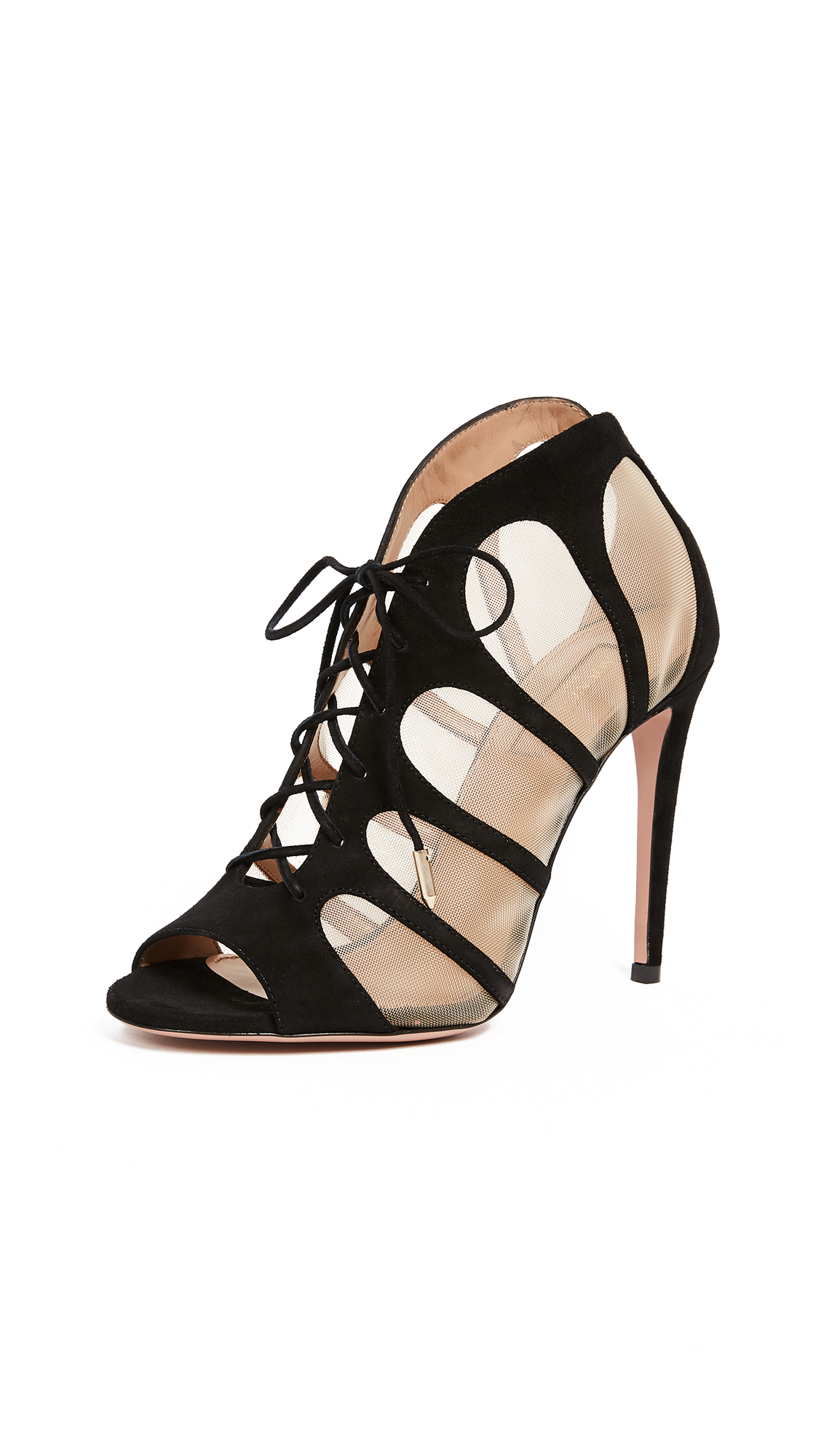 Aquazzura Elia 105 Sandals - Black