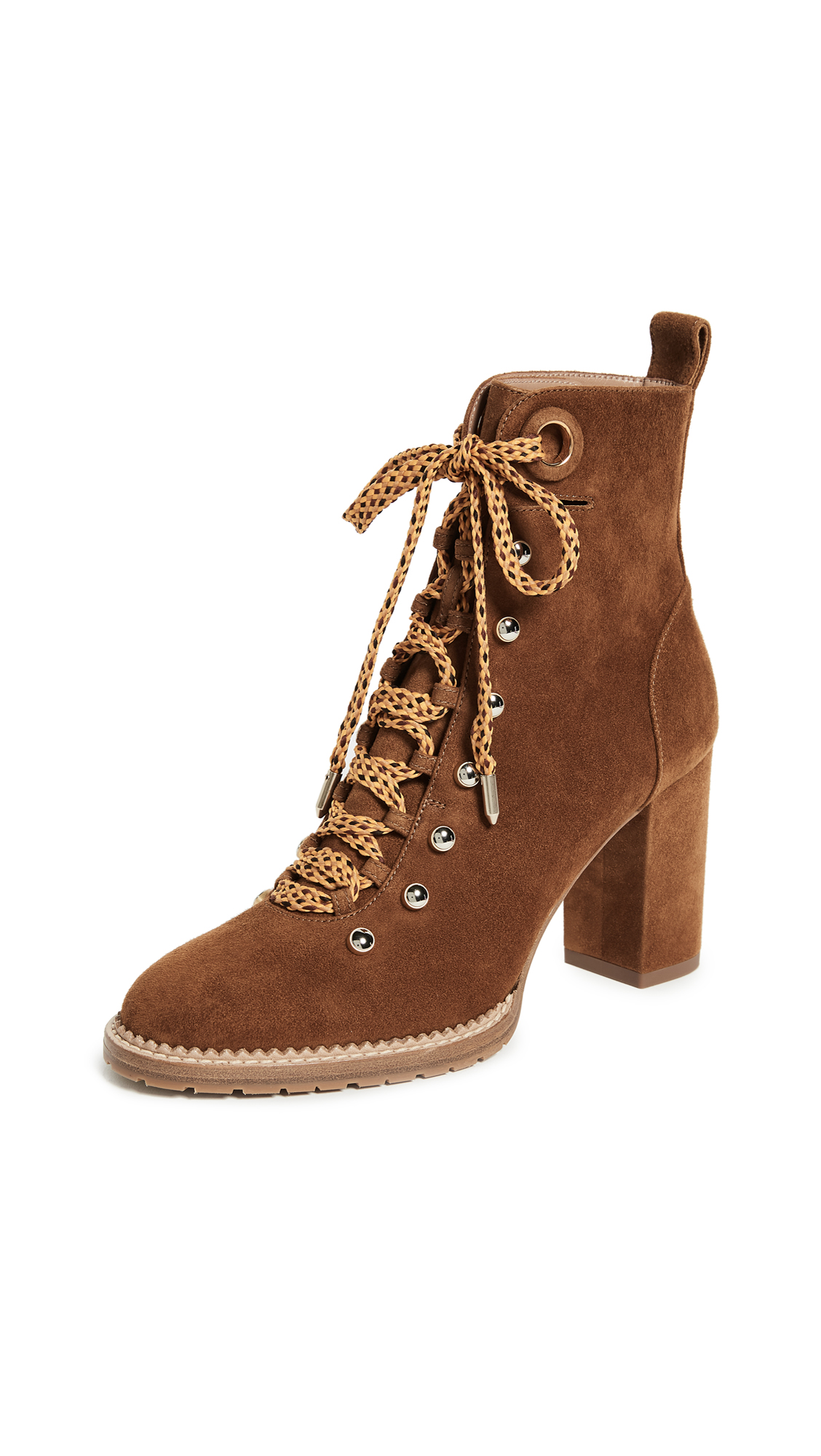 Aquazzura Hiker 90 Booties - Cognac