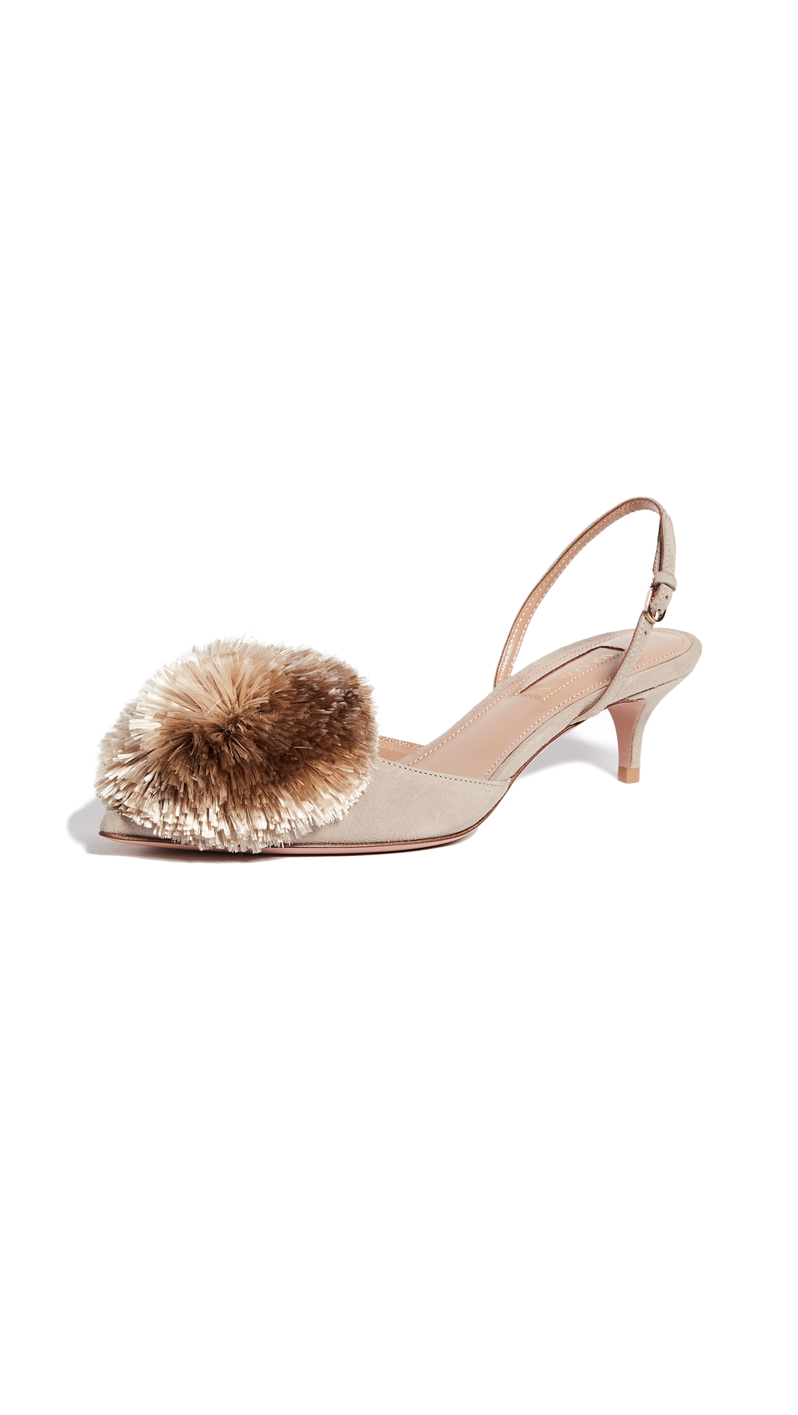 Aquazzura Powder Puff 45 Sling Pumps - Marble