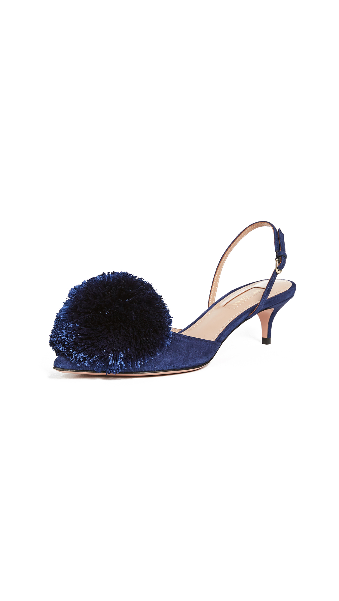 Aquazzura Powder Puff 45 Sling Pumps - Navy