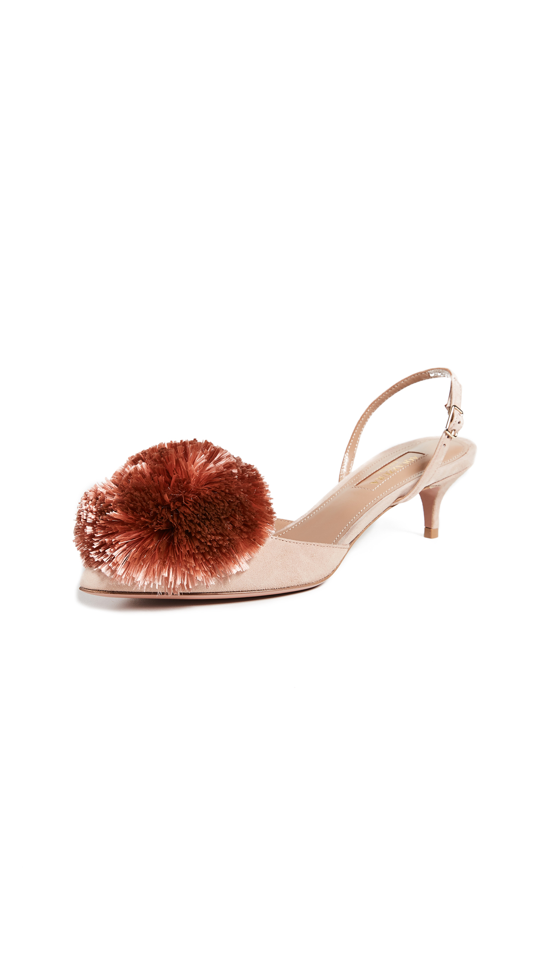 Aquazzura Powder Puff 45 Sling Pumps - Powder Pink