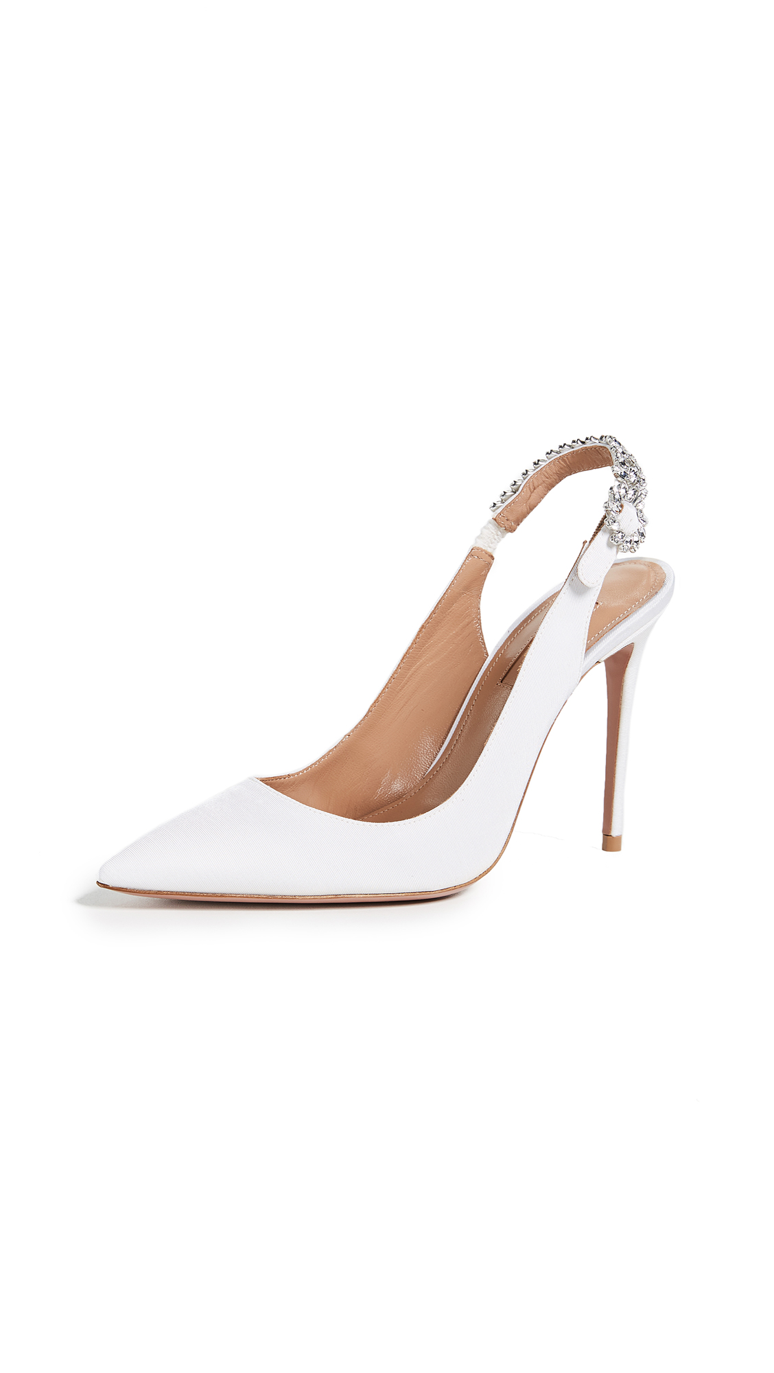 Aquazzura Portrait Of Lady 105 Slingback Pumps - White