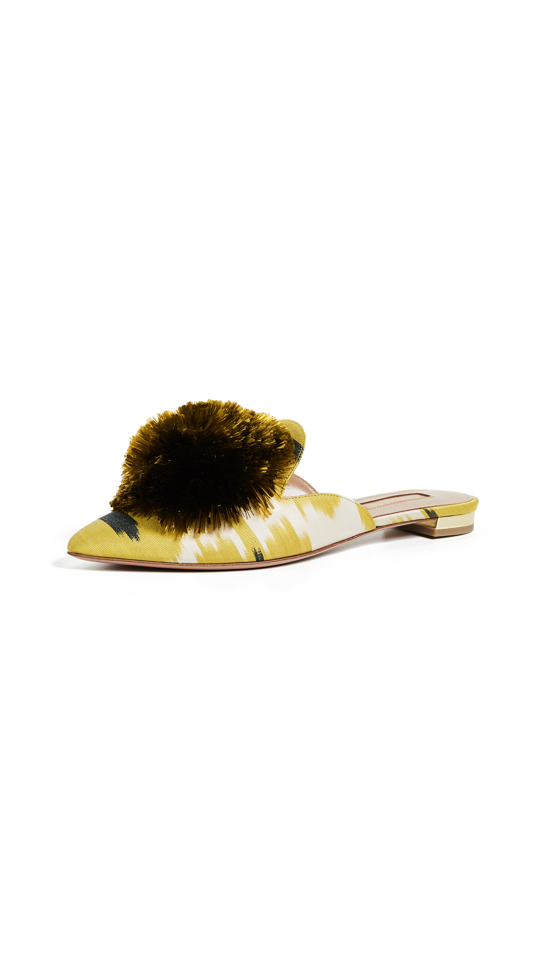 Aquazzura Powder Puff Flats - Lime