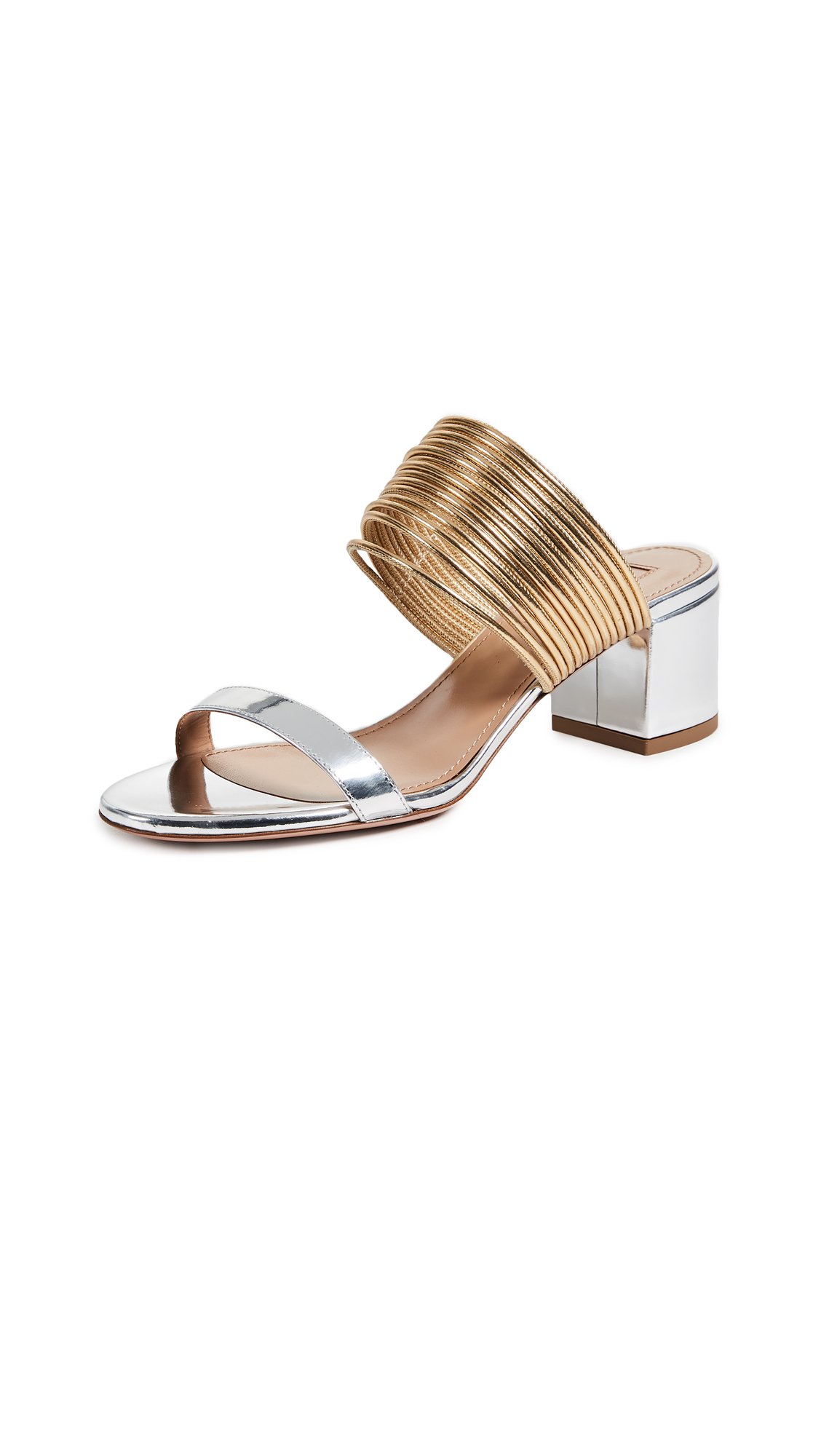 Aquazzura Rendez Vous Sandals - Silver/Gold