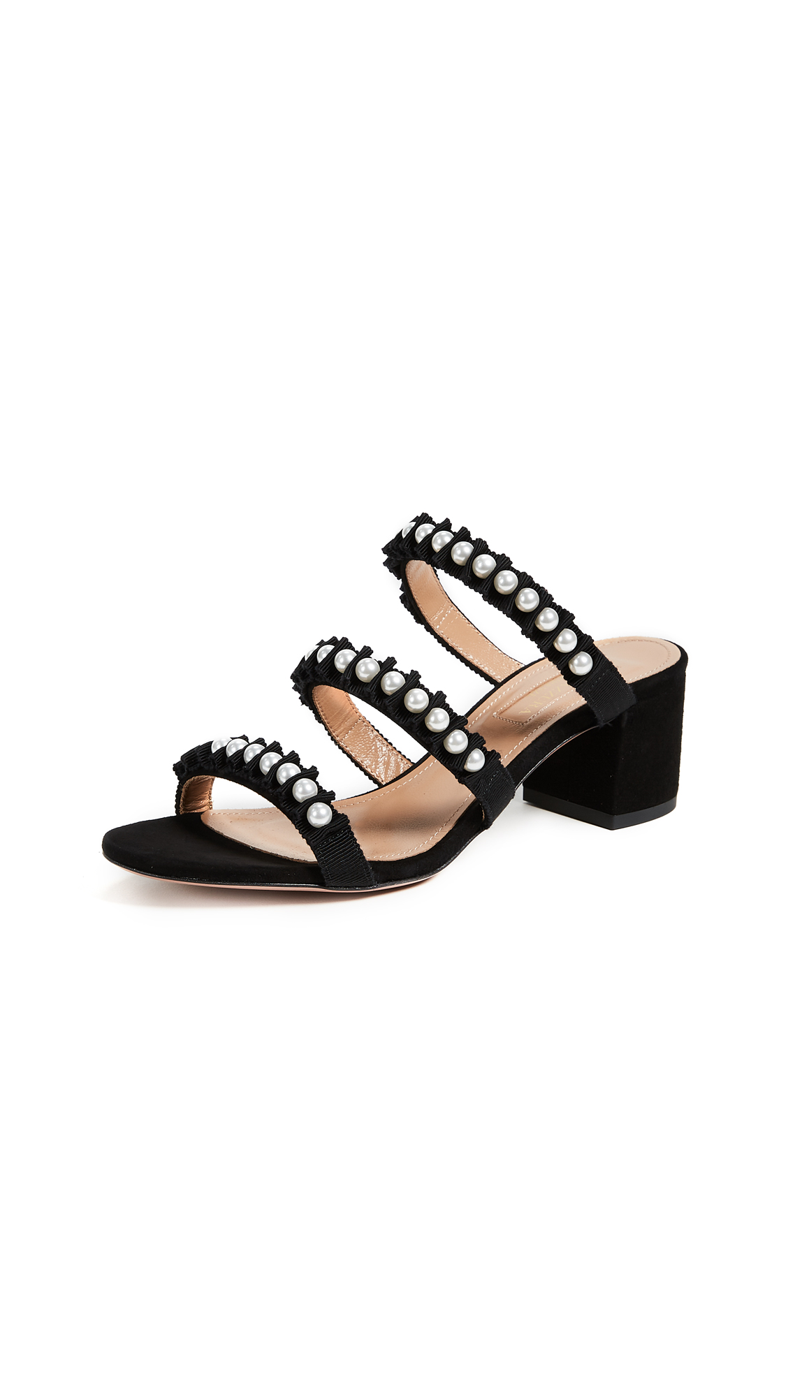Aquazzura Love Story Sandals - Black