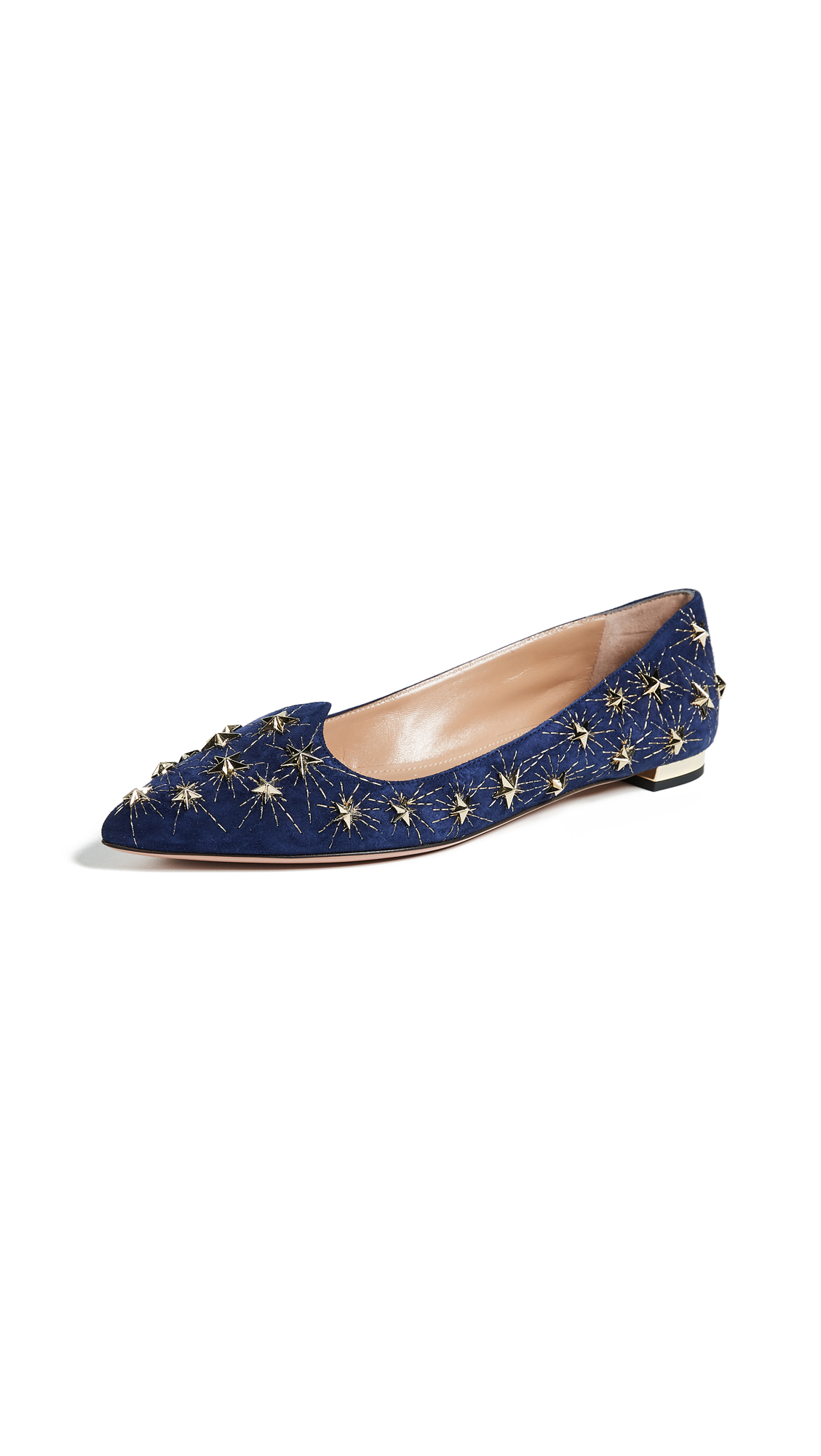 Aquazzura Cosmic Star Flats - Navy