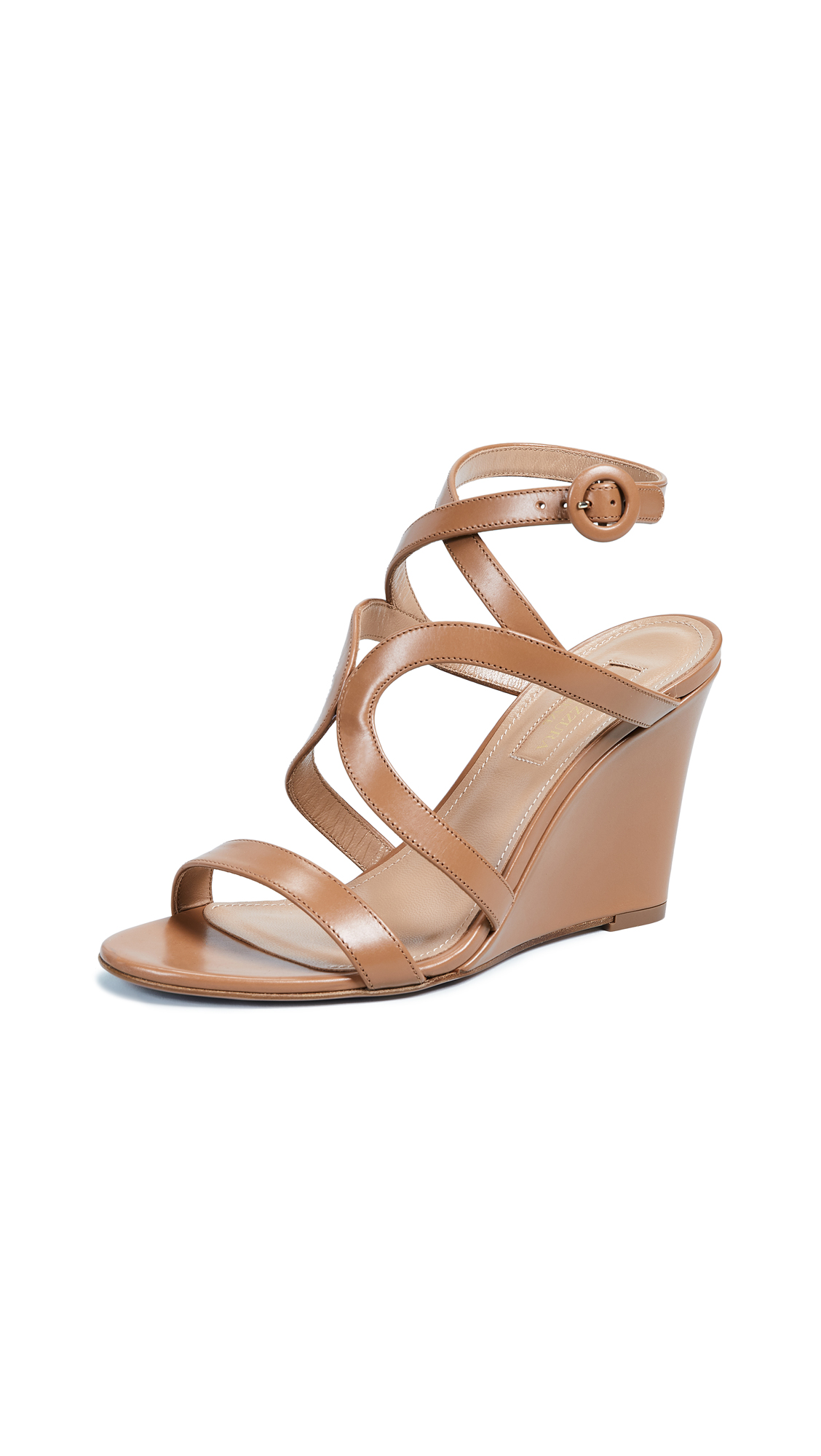 Aquazzura Morena 85mm Wedge - Whiskey