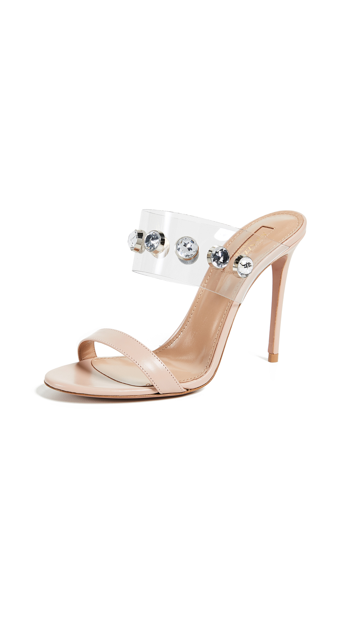 Aquazzura Galaxy 105mm Sandals - Powder Pink