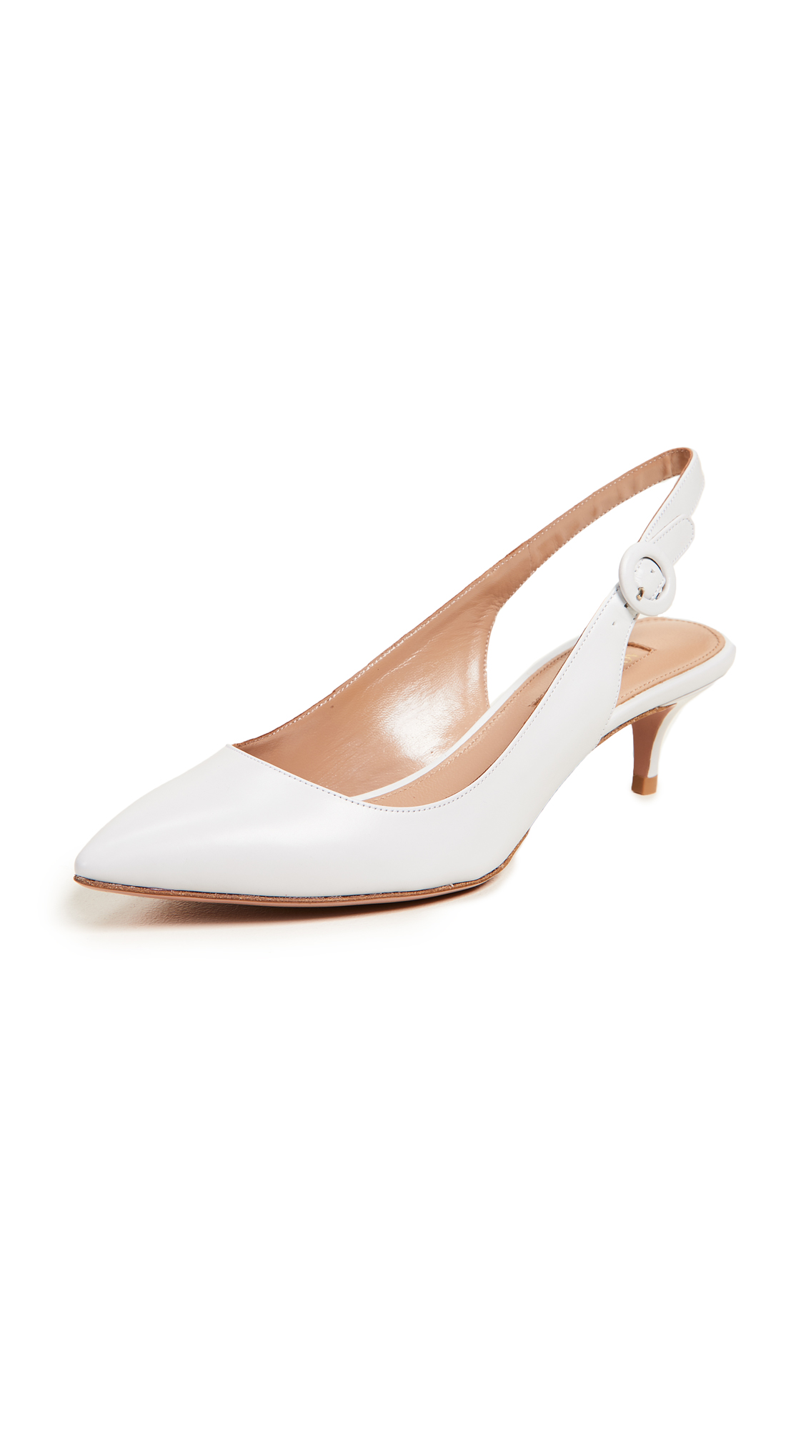 Aquazzura Pure 45 Sling Pumps - White