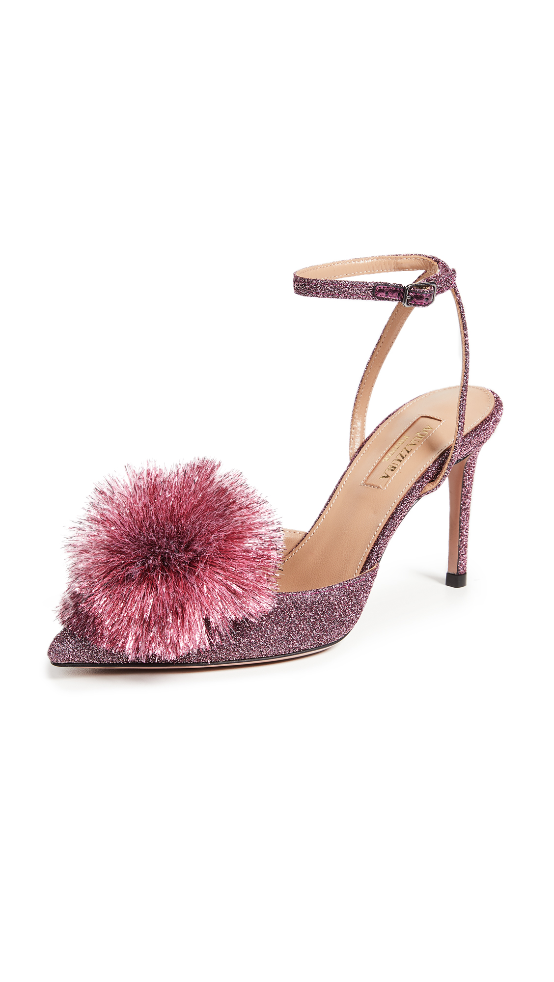 Aquazzura Powder Puff 85mm Sling Pumps - Pink