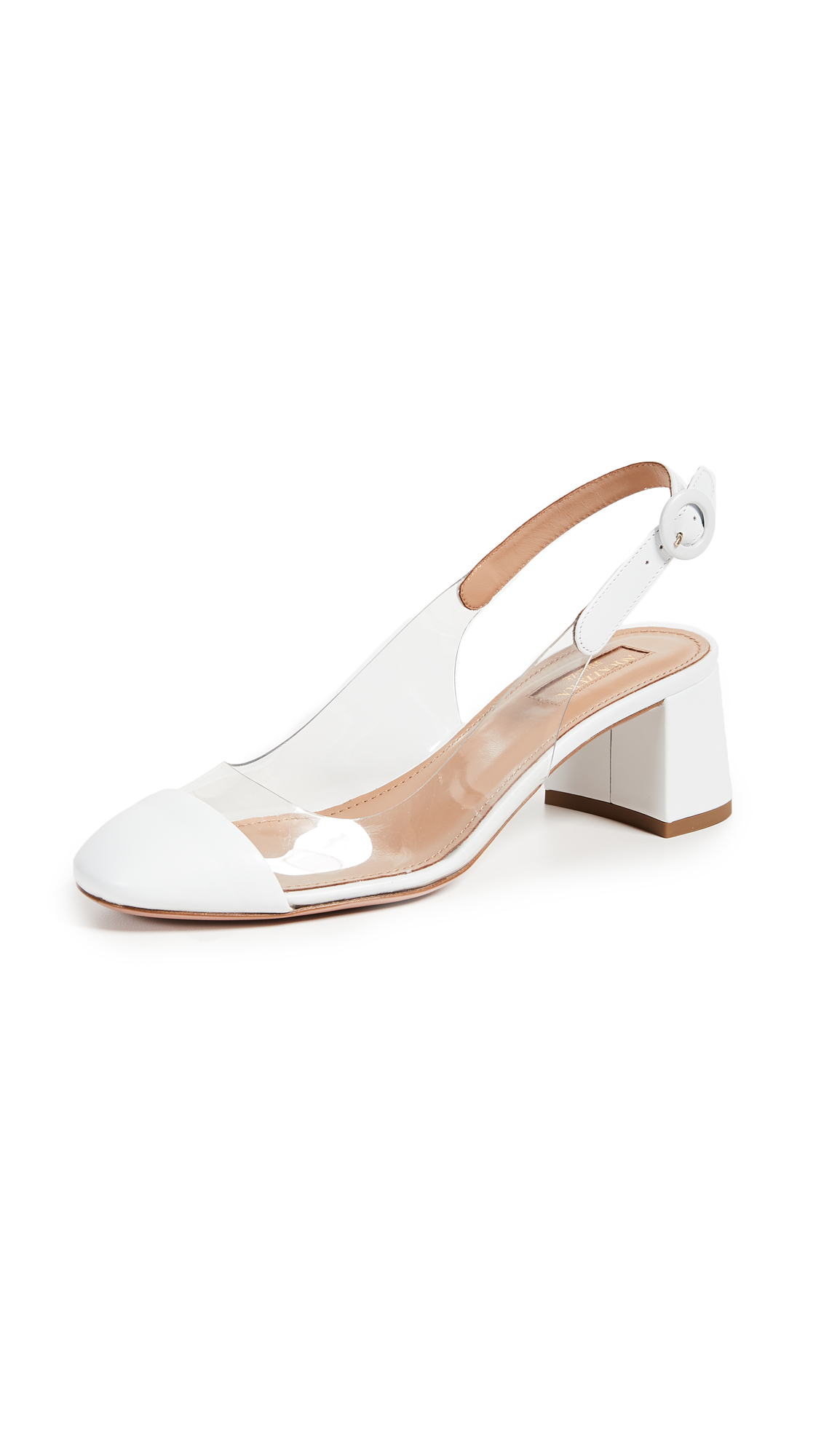 Aquazzura Optic 50mm Pumps - White