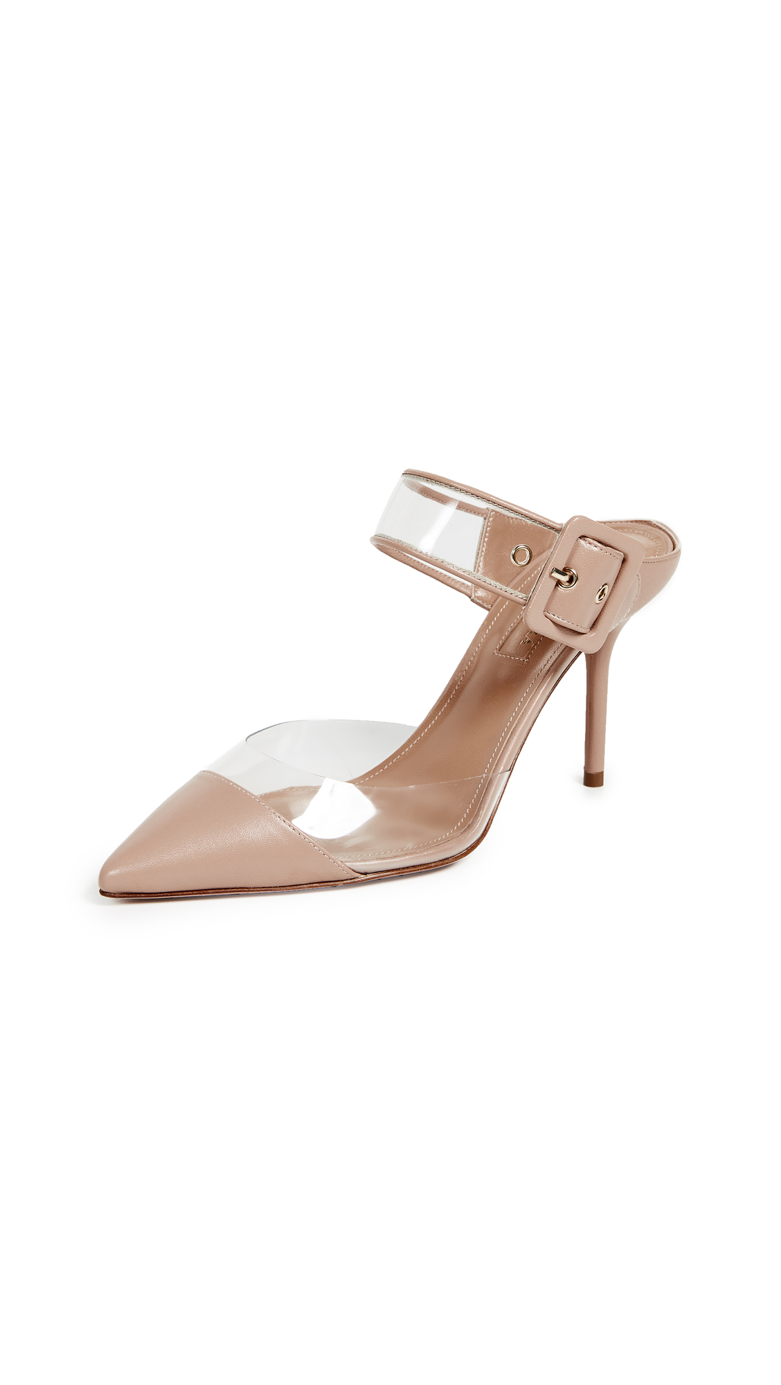 Aquazzura Optic 85mm Mules - Powder Pink