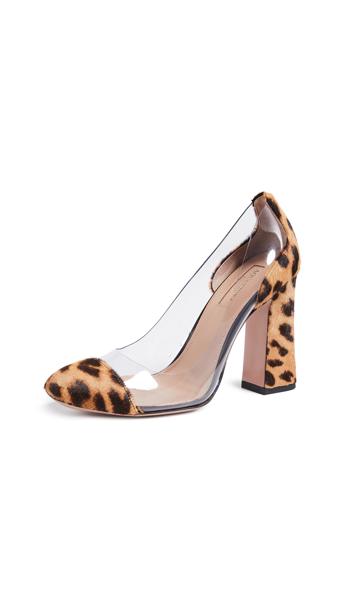 Aquazzura Optic 105 Pumps - Caramel Leopard