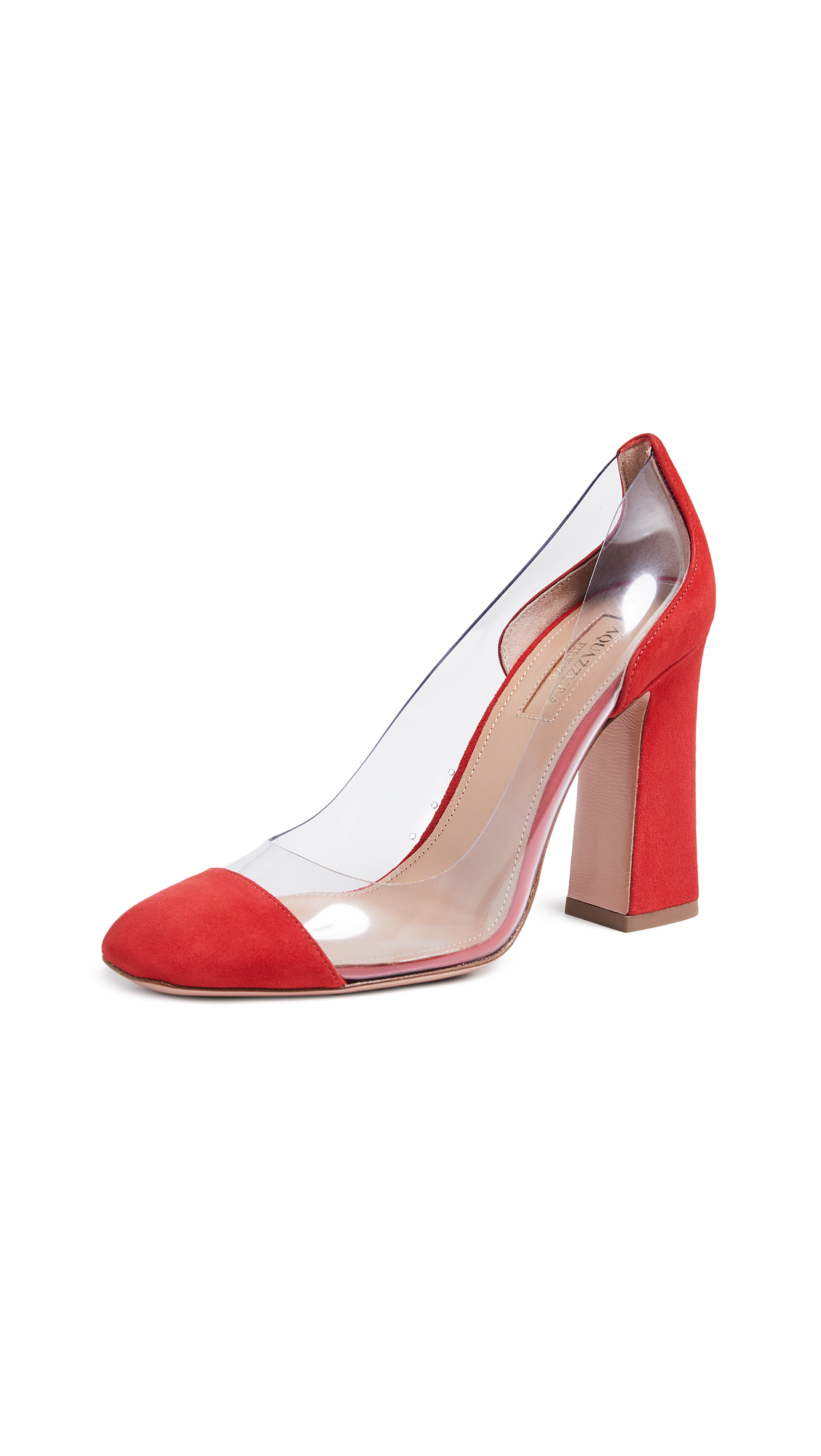 Aquazzura Optic 105 Pumps - Carnation Red