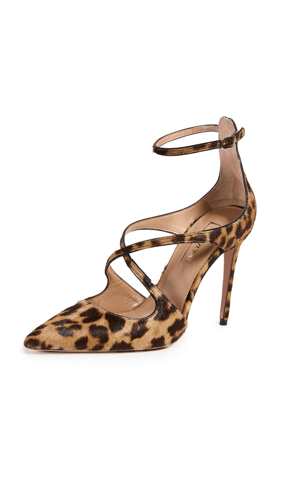 Viviana Leopard-Print Calf Hair And Leather Pumps, Caramel Leopard