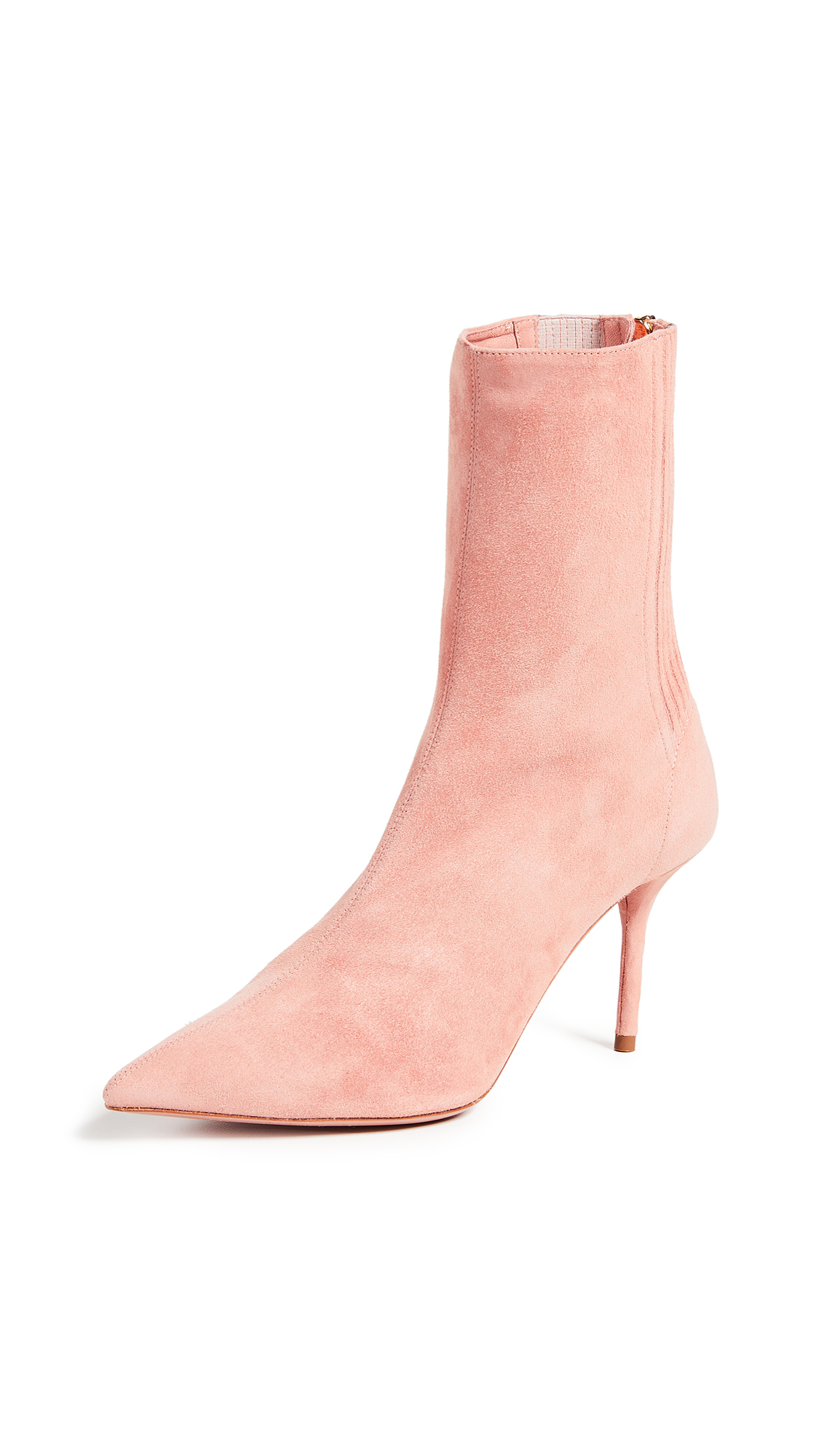 Aquazzura Saint Honore 85mm Booties - French Rose