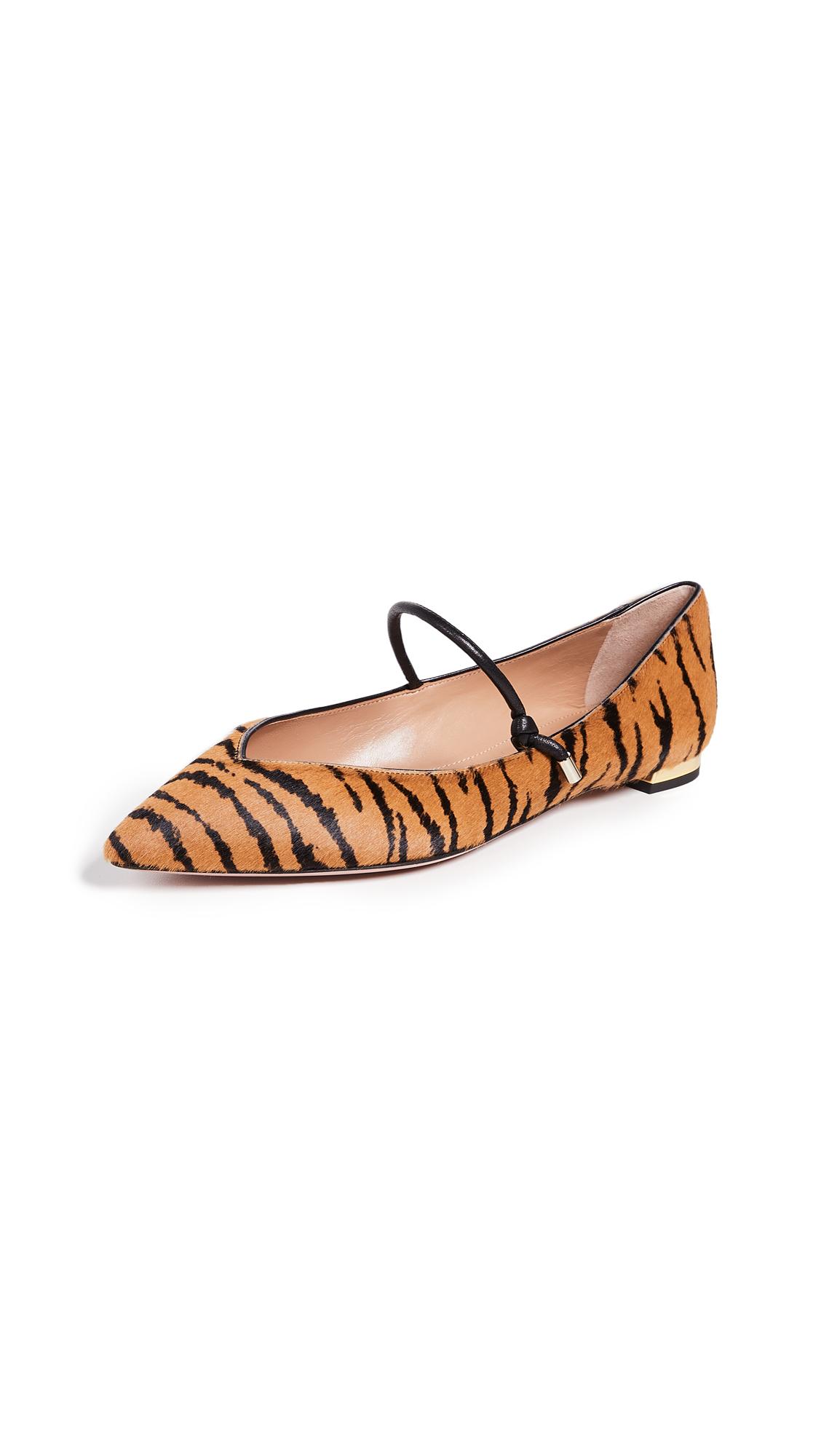 Aquazzura Stylist Ballet Flats - Tiger/Black