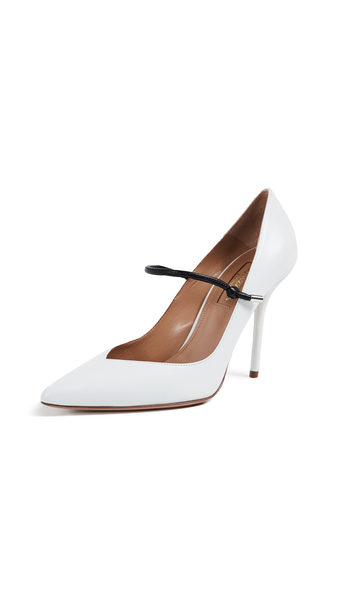 Aquazzura Stylist 105 Pumps - White/Black