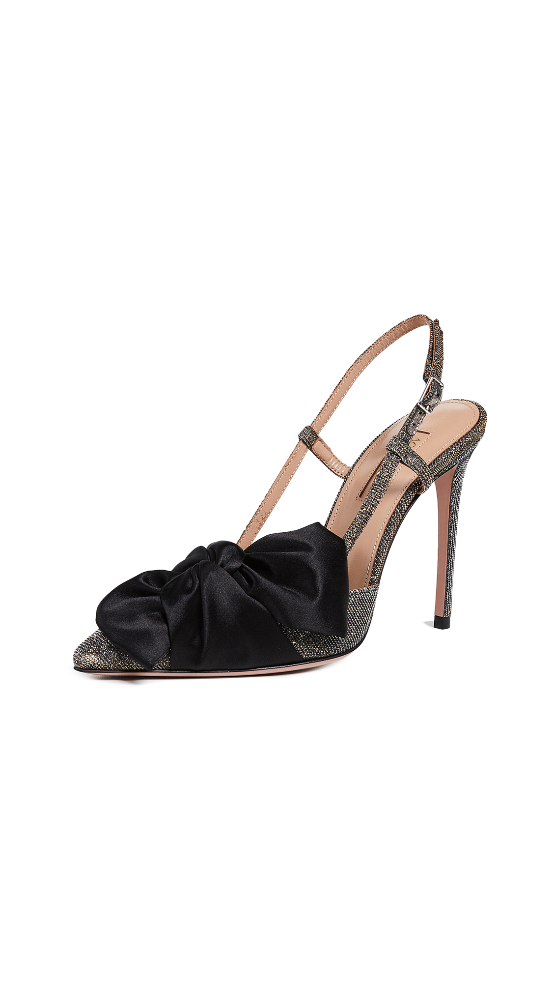 Aquazzura Versailles 105mm Pumps - Black/Multicolor