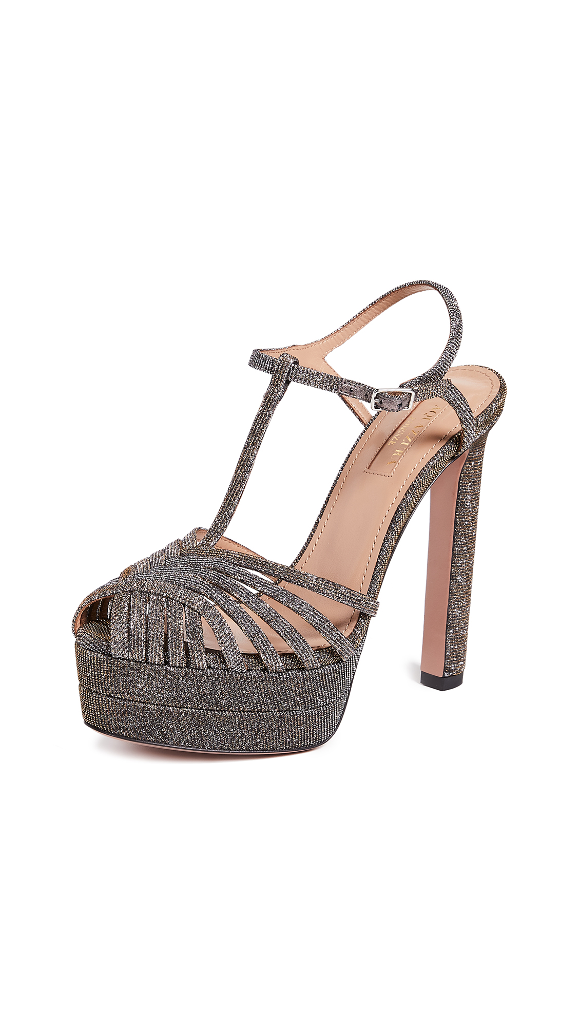 Aquazzura Moonlight Plateau 130 Sandals - Multimetal