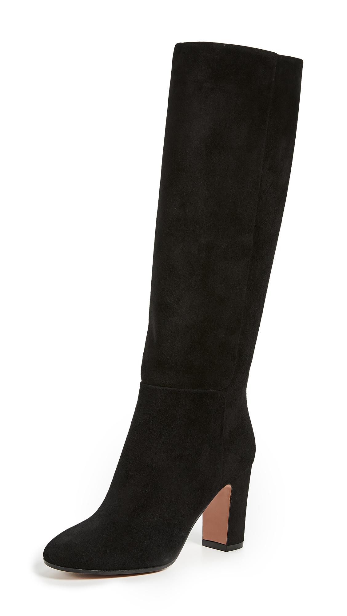 Aquazzura Brera 85 Boots - Black