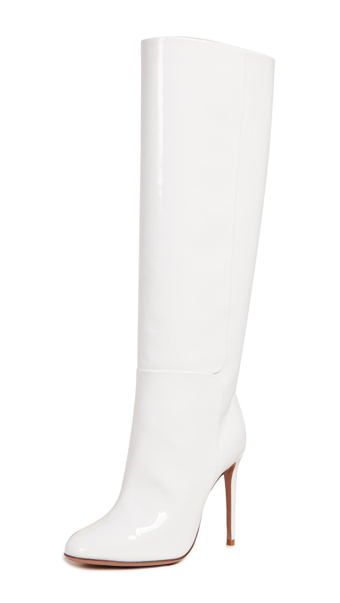 Aquazzura Brera 105 Boots - White