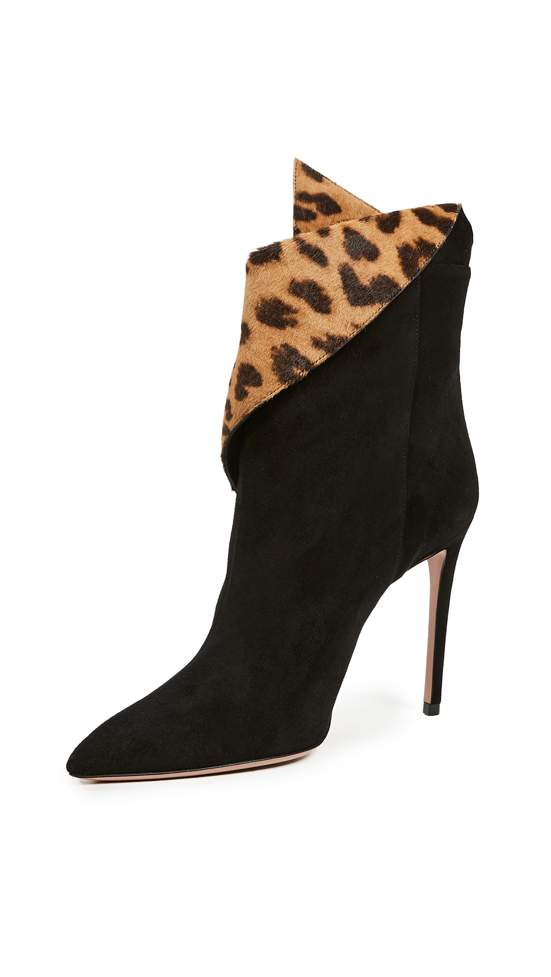 Aquazzura Night Fever 105mm Booties - Black/Caramel