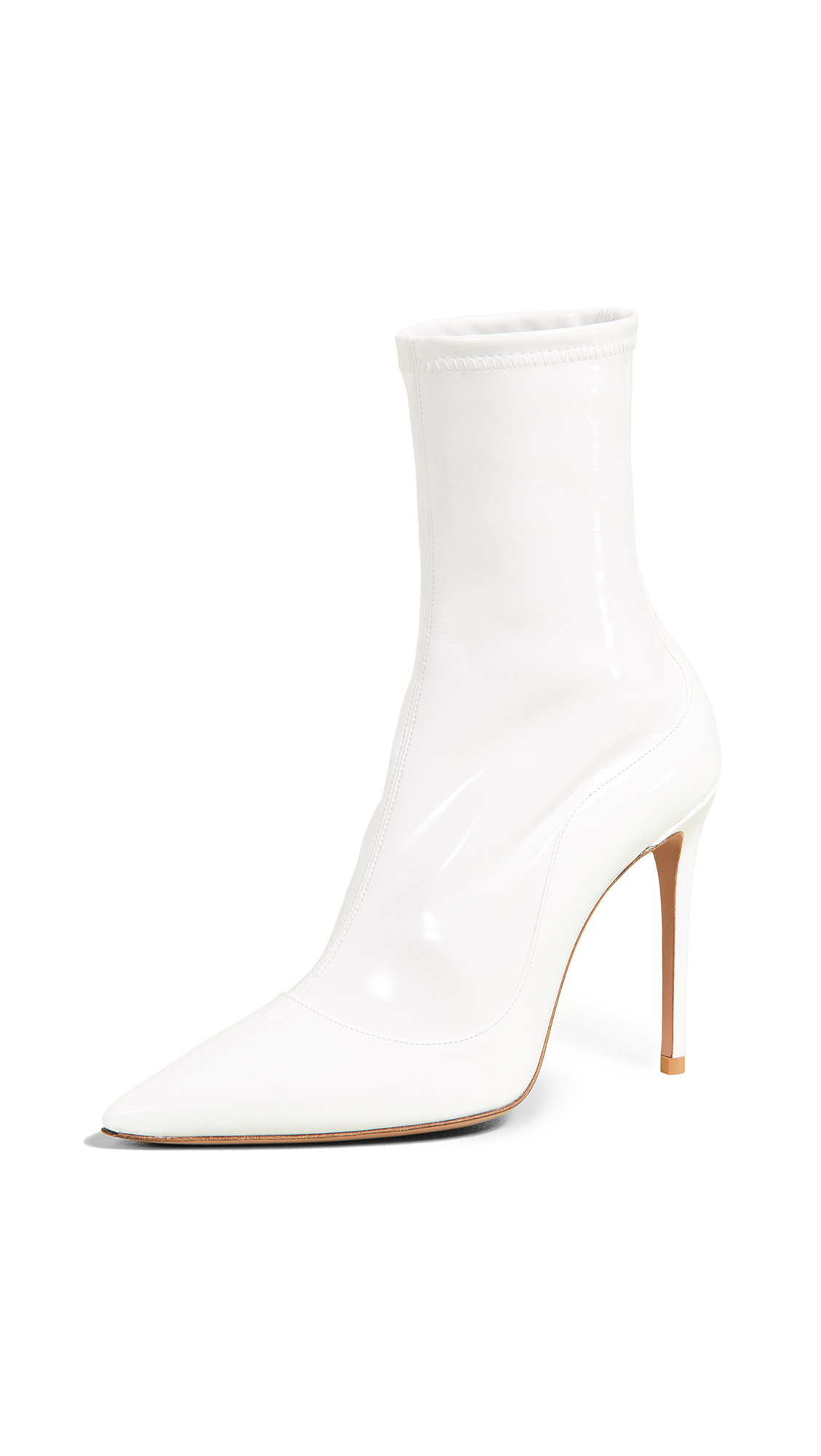 Aquazzura Zen 105 Booties - White
