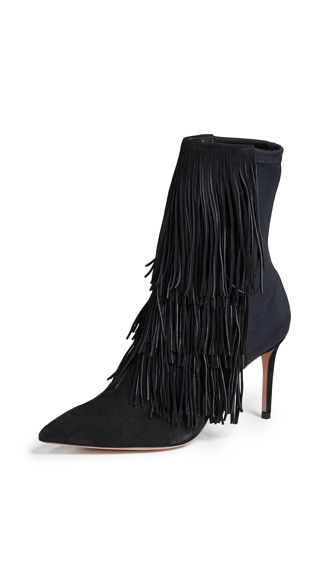 Aquazzura Shake 85 Stretch Booties - Black