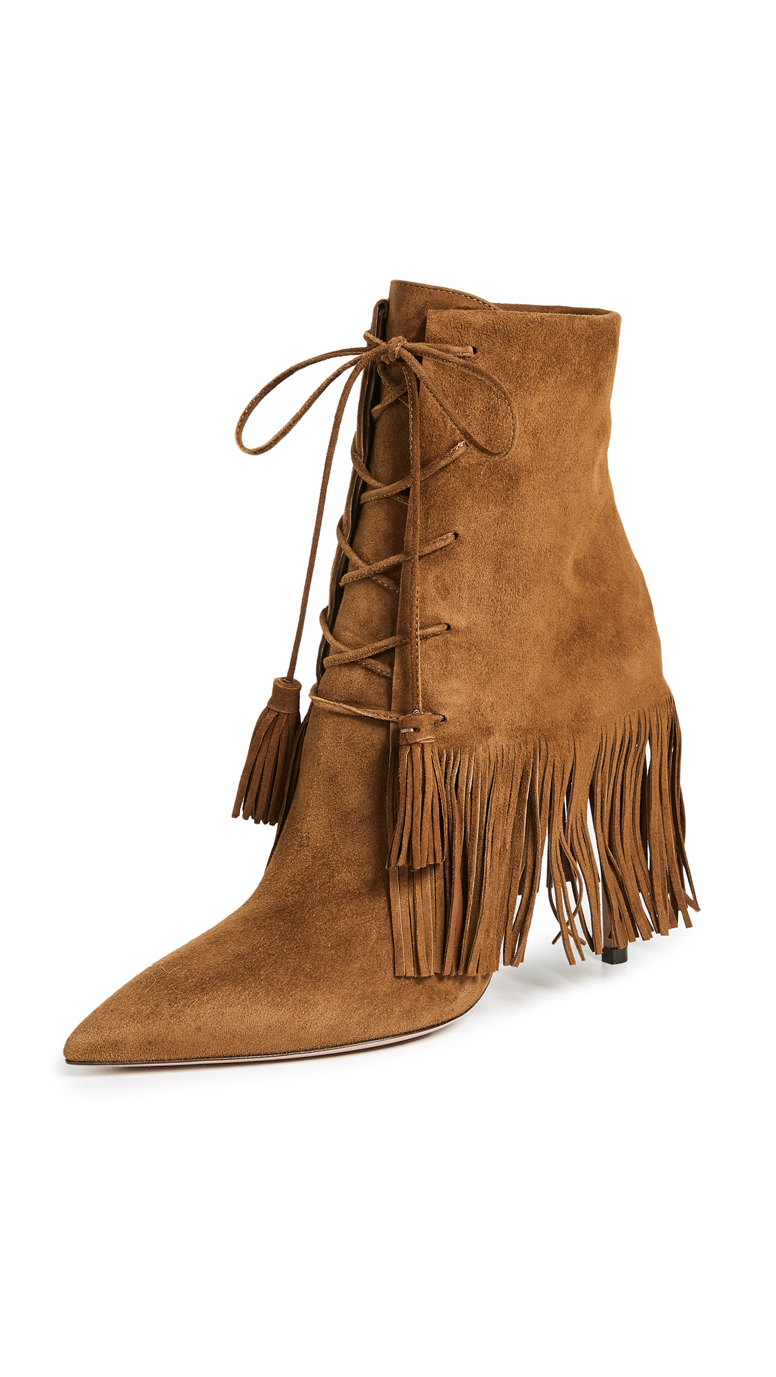 Aquazzura Mustang 105mm Booties - Cinnamon
