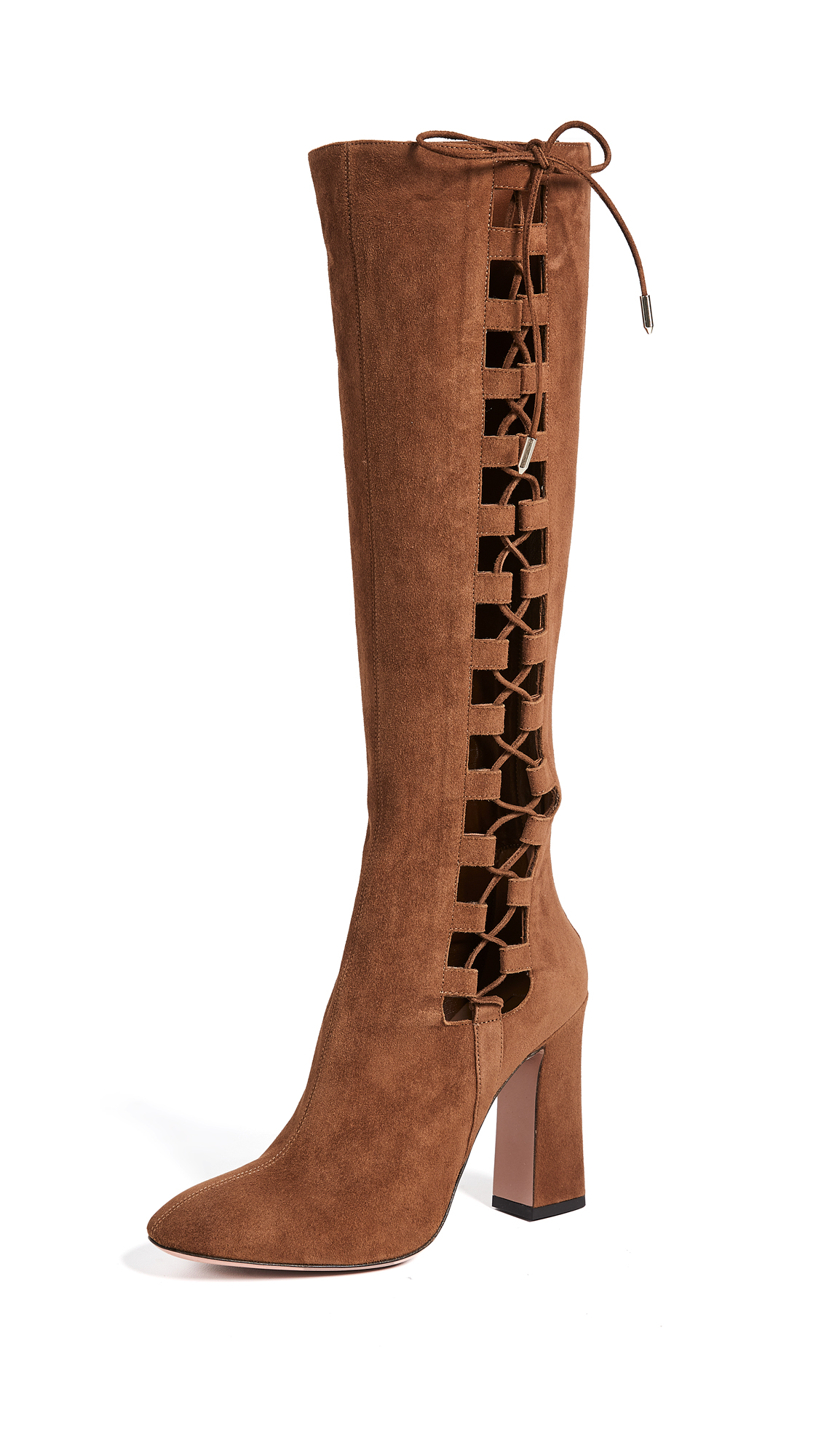 Aquazzura Medina 105 Boots - Cinnamon