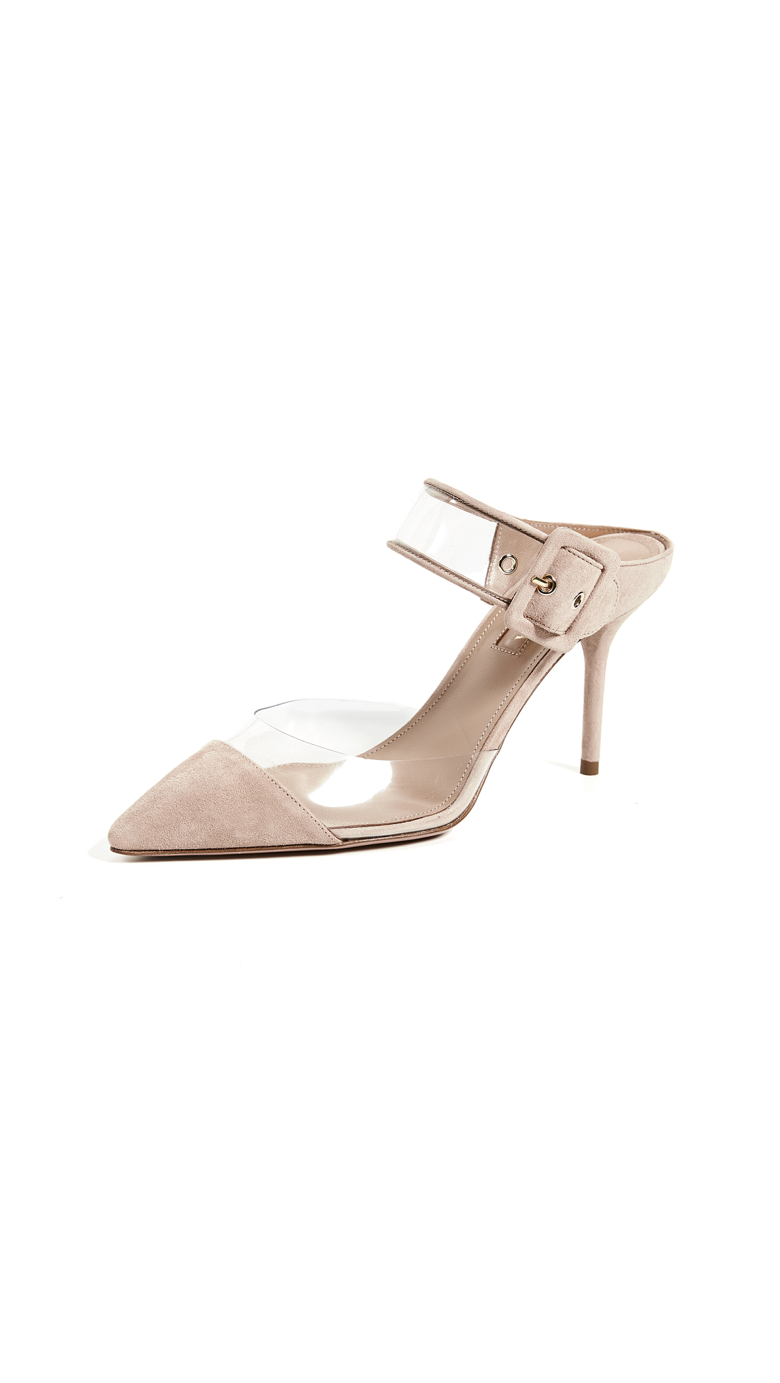 Aquazzura Optic 85mm Mule - Powder Pink