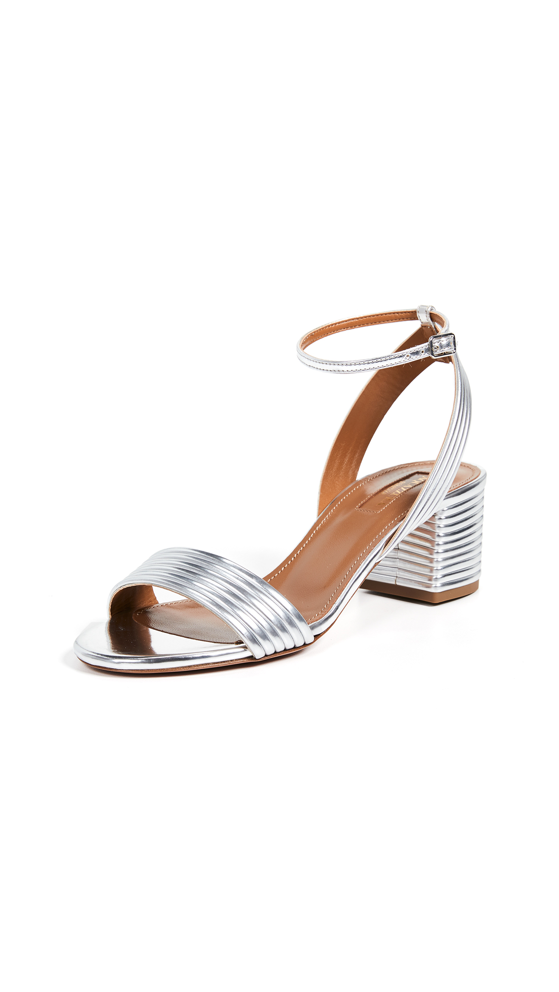 Aquazzura Sundance 50 Sandals - Silver