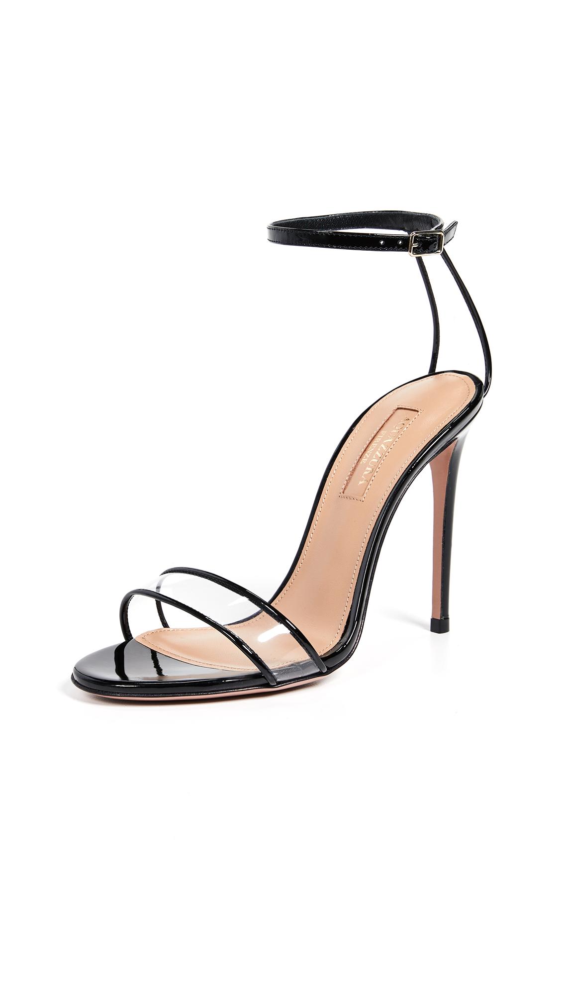 Aquazzura Minimalist 105 Sandals - Black
