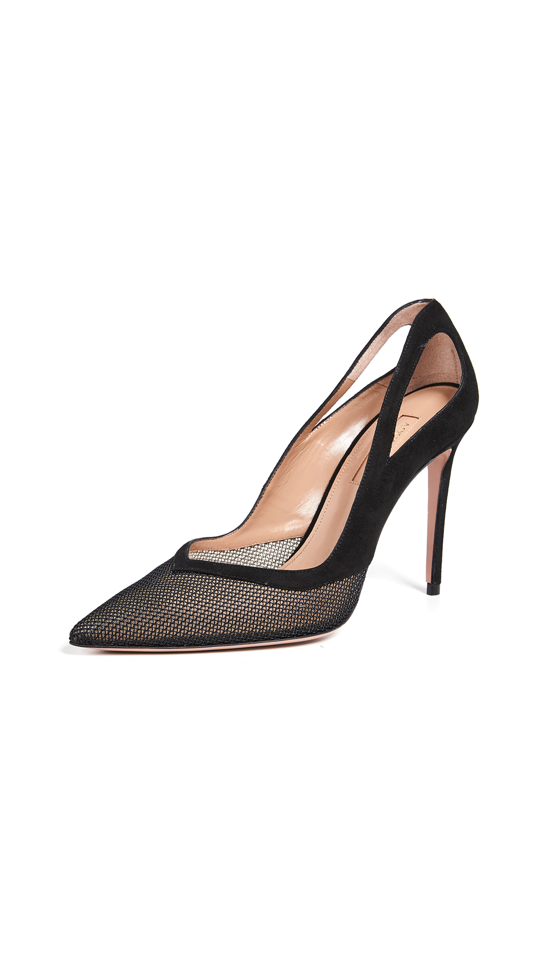 Aquazzura Shiva Mesh Pumps - Black