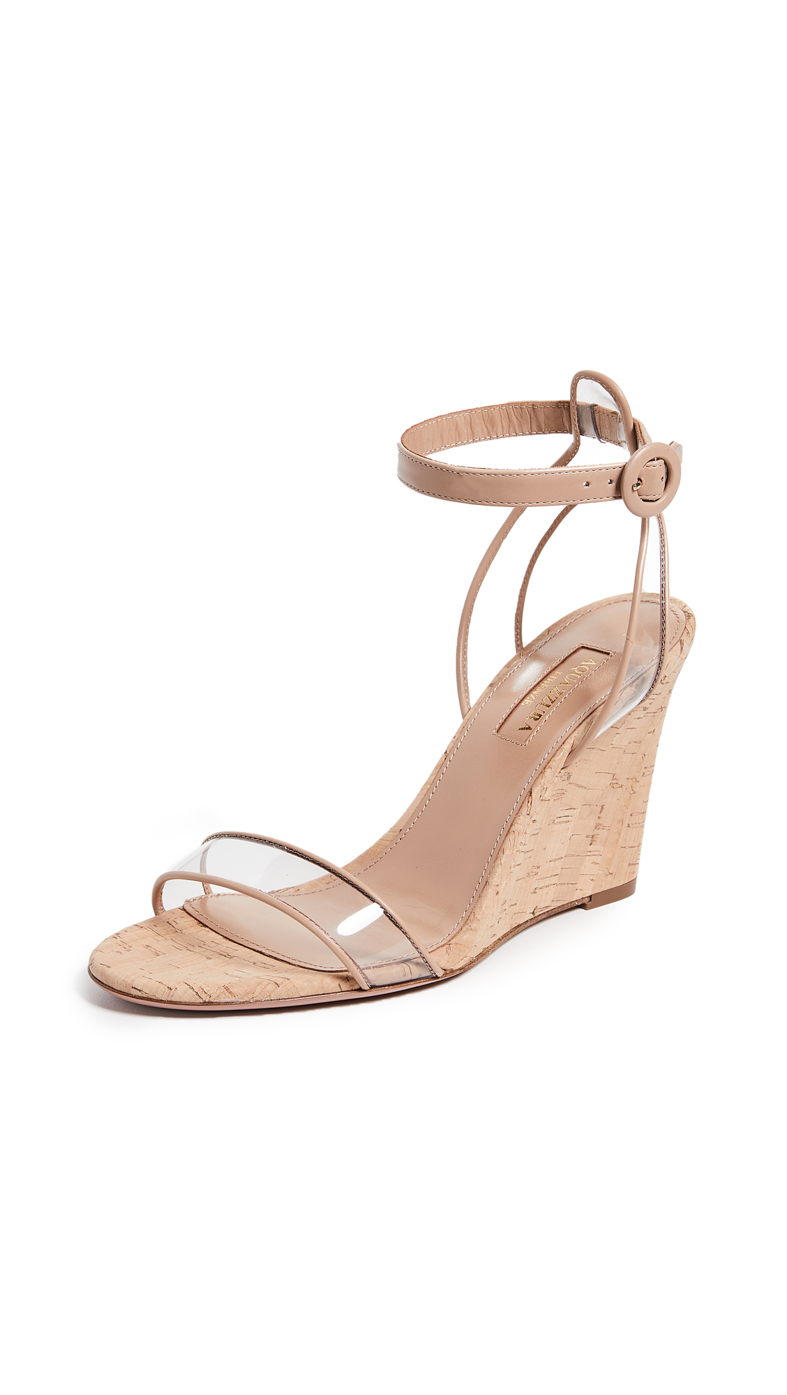 Buy Aquazzura 85mm Minimalist Wedge Sandals online, shop Aquazzura