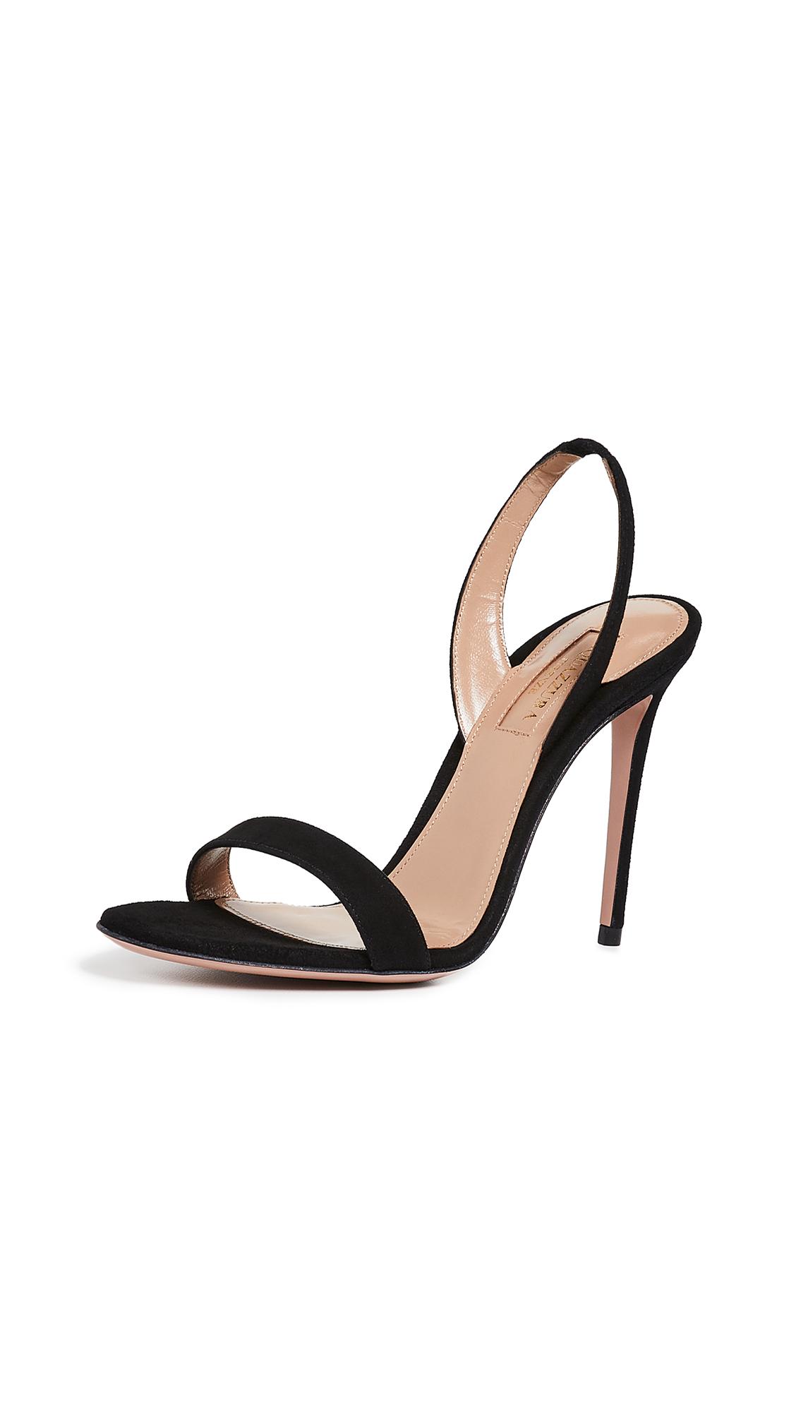 Buy Aquazzura online - photo of Aquazzura 105mm So Nude Sandals
