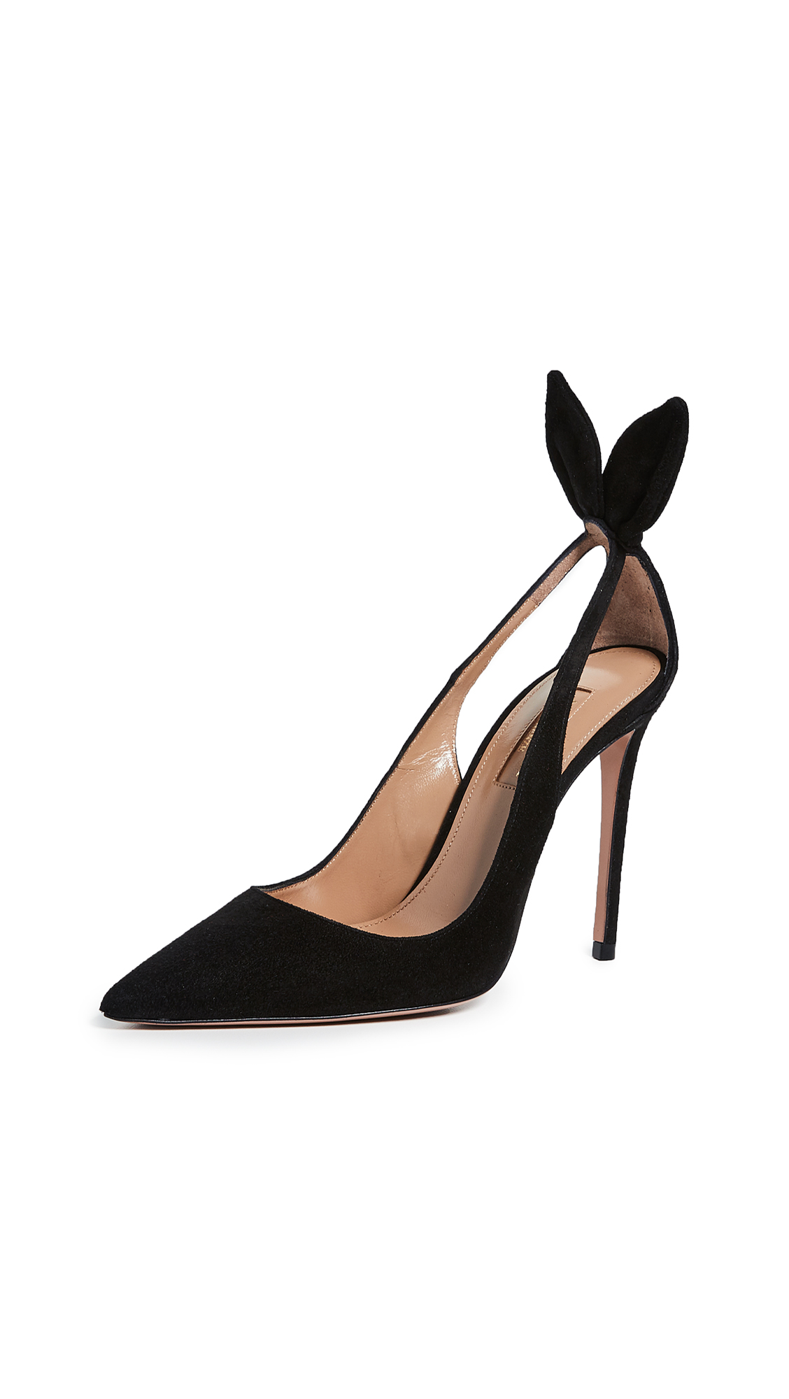 Buy Aquazzura Bow Tie Pumps 105mm online, shop Aquazzura