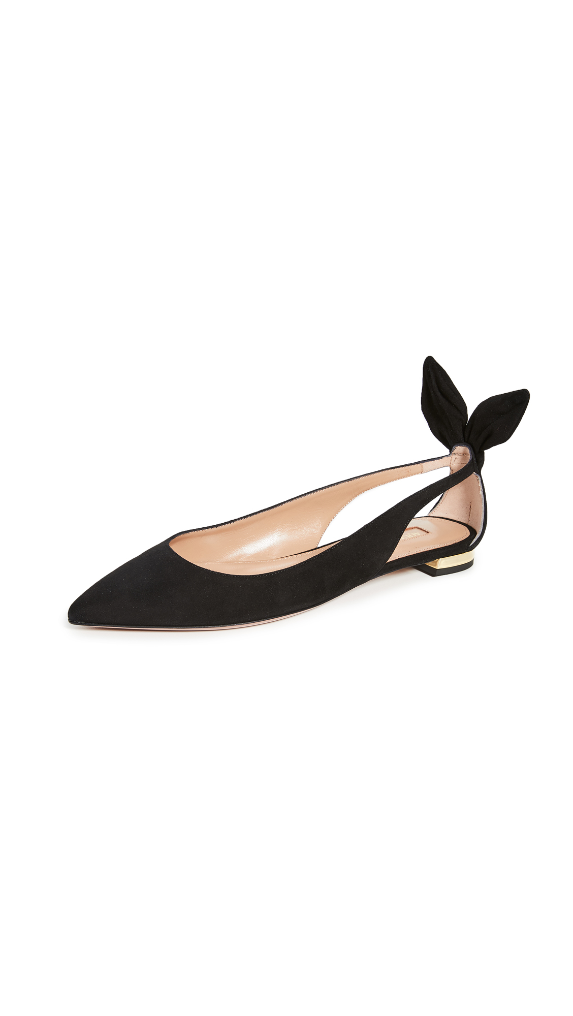 Buy Aquazzura Bow Tie Ballet Flats online, shop Aquazzura