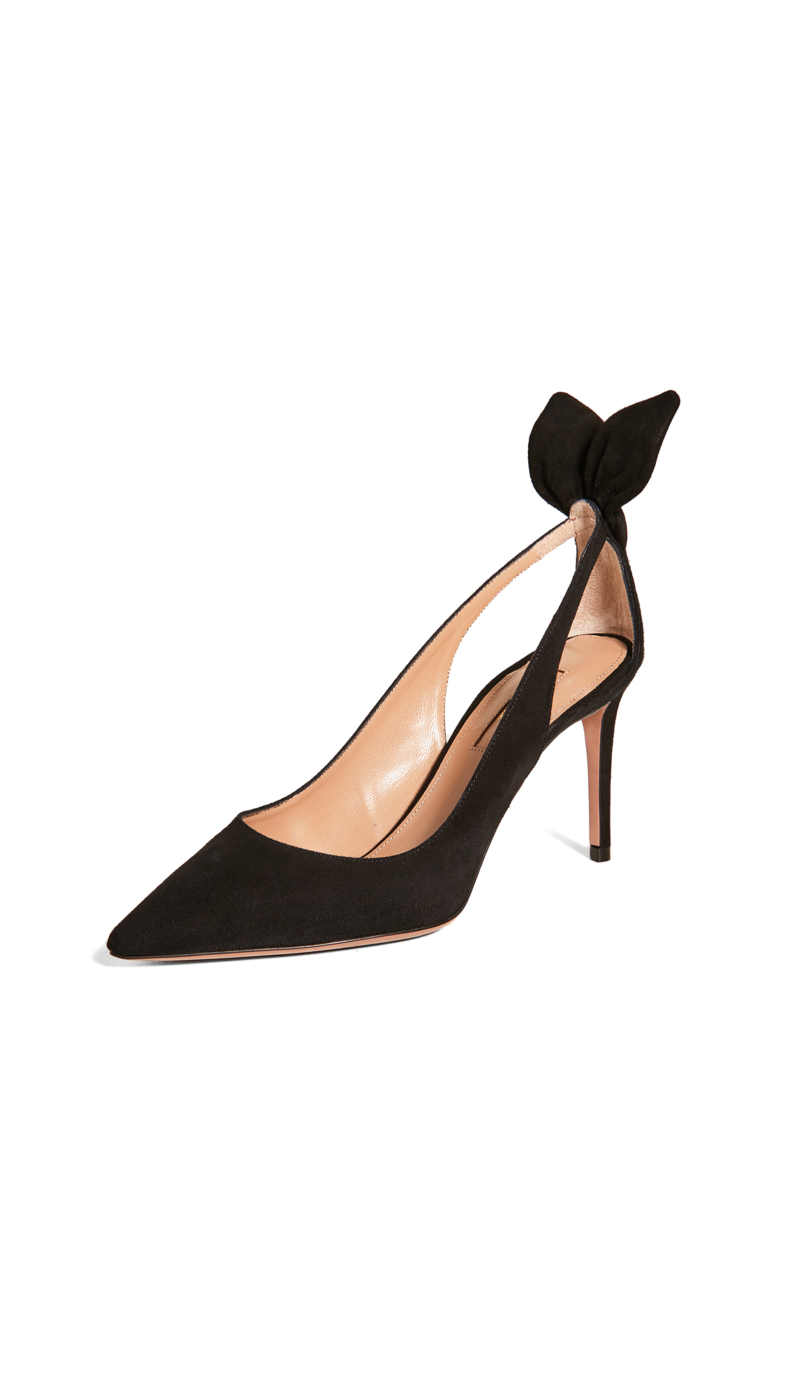 Buy Aquazzura Bow Tie Pumps 85mm online, shop Aquazzura